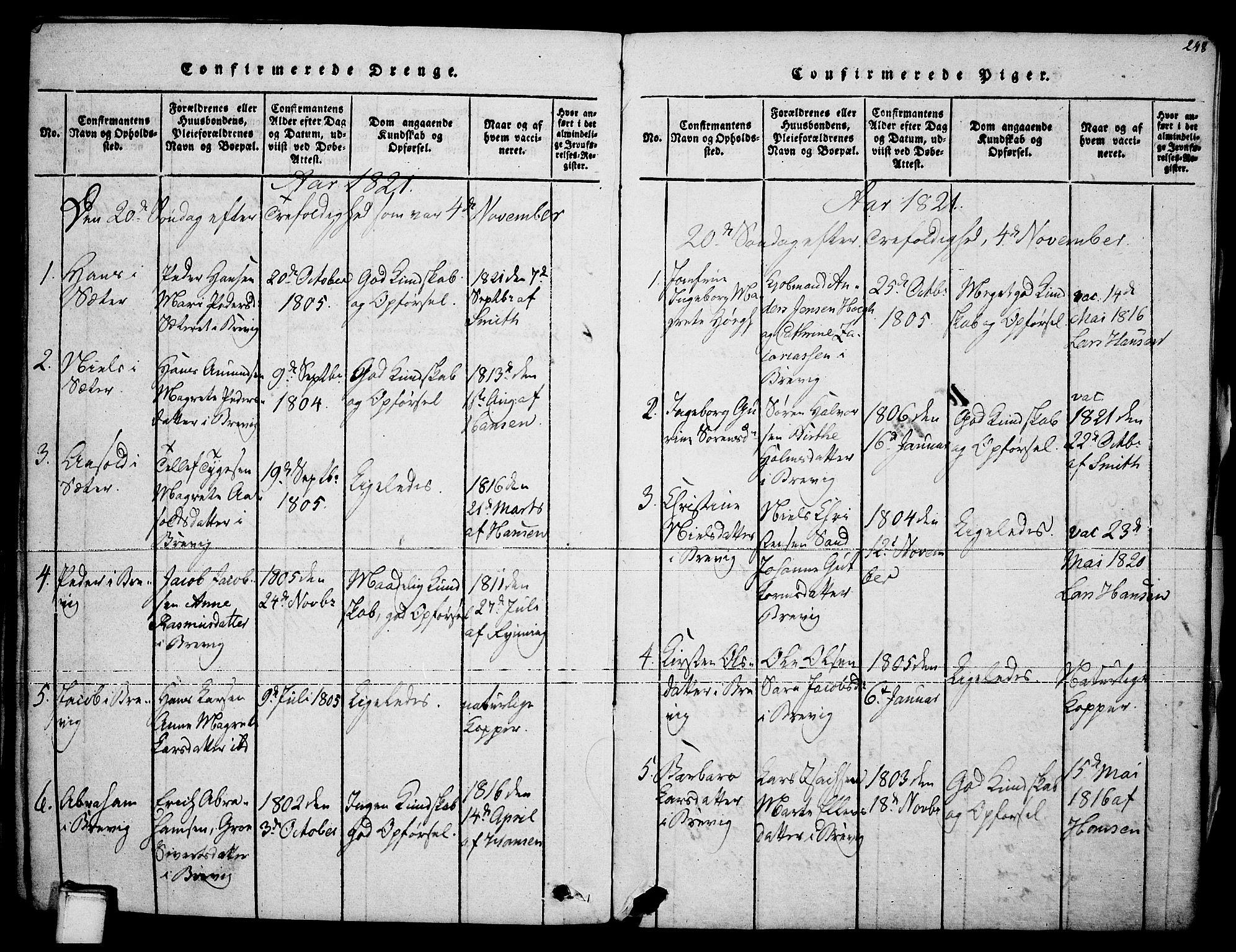 SAKO, Brevik kirkebøker, F/Fa/L0004: Ministerialbok nr. 4, 1814-1846, s. 248