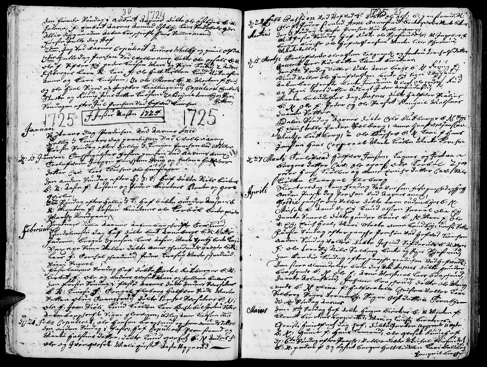 SAH, Hof prestekontor, Ministerialbok nr. 2, 1720-1749, s. 34-35