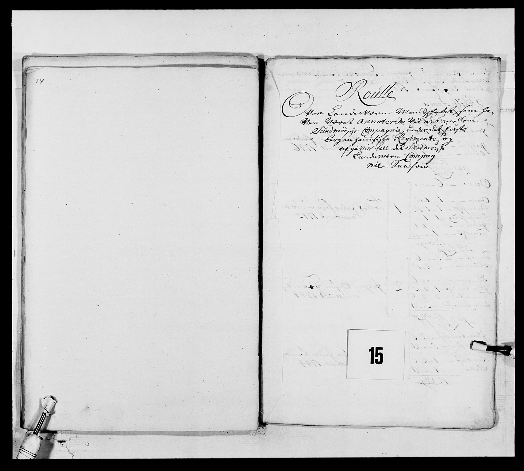 RA, Kommanderende general (KG I) med Det norske krigsdirektorium, E/Ea/L0517: 1. Bergenhusiske regiment, 1742-1756, s. 138