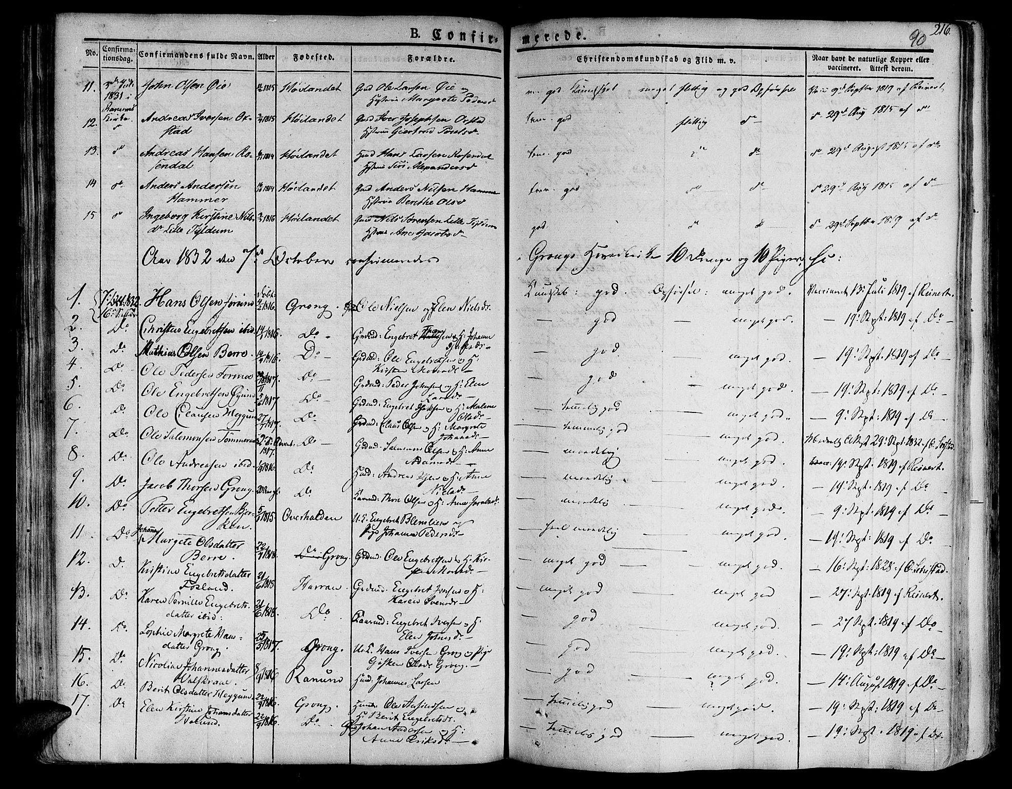 SAT, Ministerialprotokoller, klokkerbøker og fødselsregistre - Nord-Trøndelag, 758/L0510: Ministerialbok nr. 758A01 /1, 1821-1841, s. 90