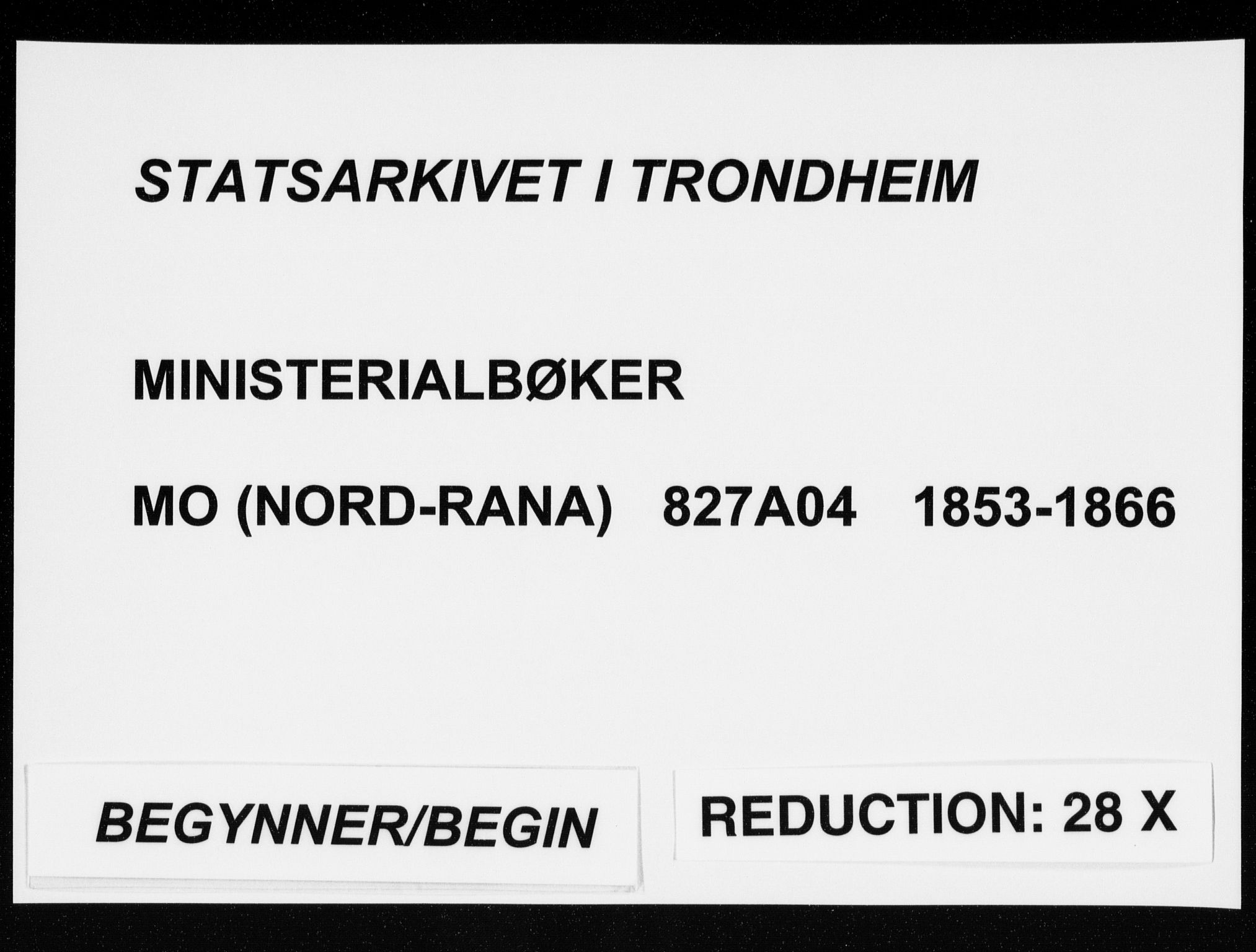 SAT, Ministerialprotokoller, klokkerbøker og fødselsregistre - Nordland, 827/L0392: Ministerialbok nr. 827A04, 1853-1866