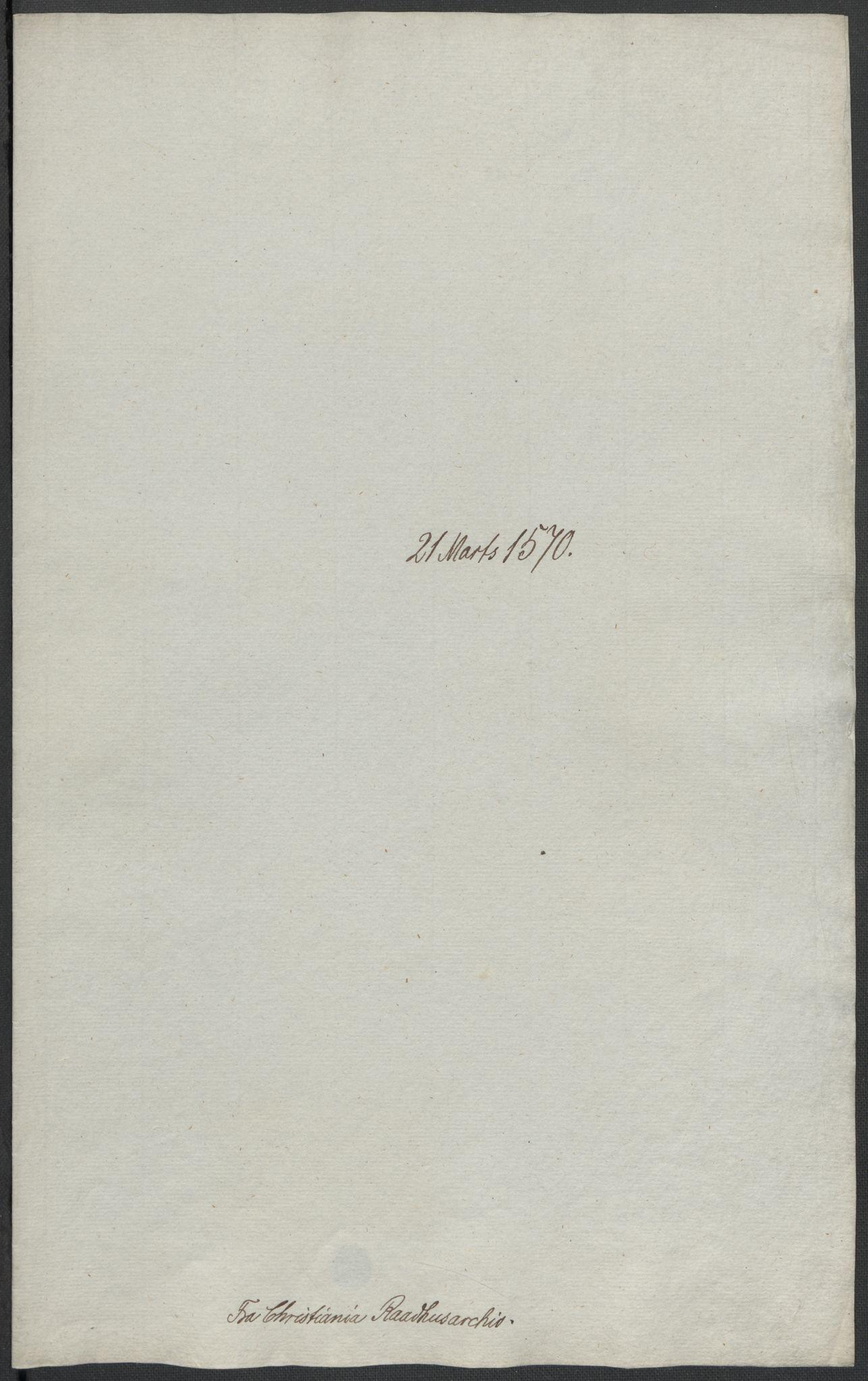 RA, Riksarkivets diplomsamling, F02/L0075: Dokumenter, 1570-1571, s. 16