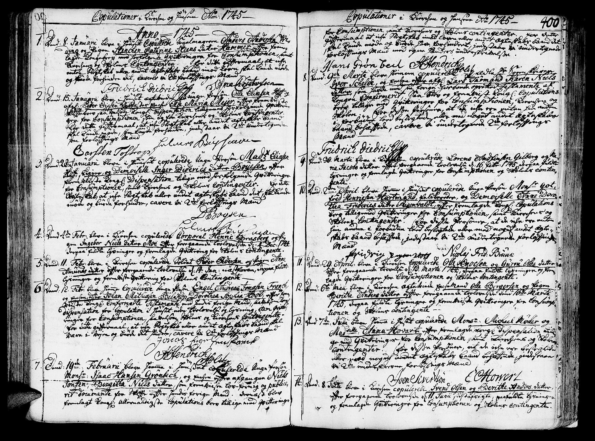 SAT, Ministerialprotokoller, klokkerbøker og fødselsregistre - Sør-Trøndelag, 602/L0103: Ministerialbok nr. 602A01, 1732-1774, s. 400