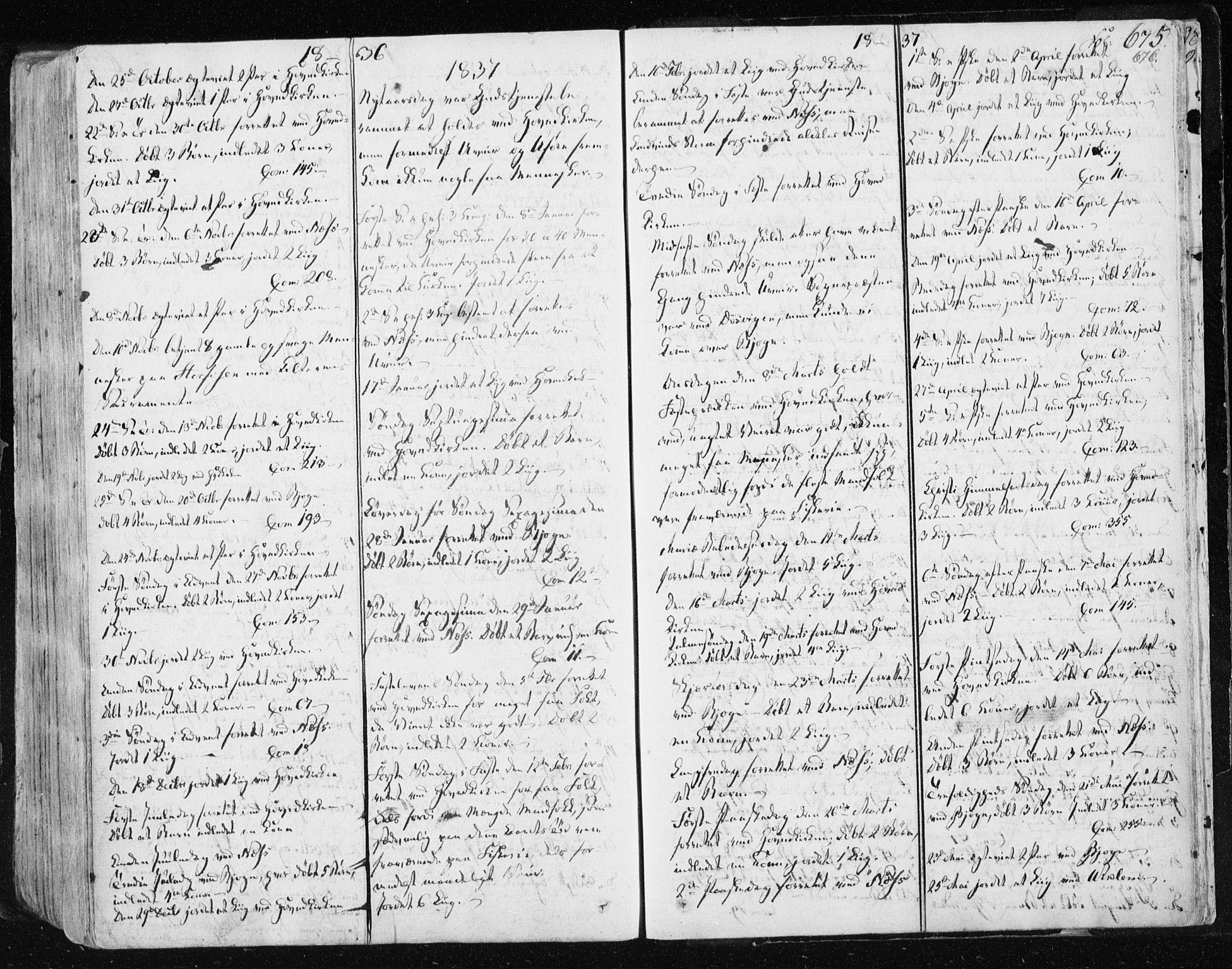 SAT, Ministerialprotokoller, klokkerbøker og fødselsregistre - Sør-Trøndelag, 659/L0735: Ministerialbok nr. 659A05, 1826-1841, s. 675