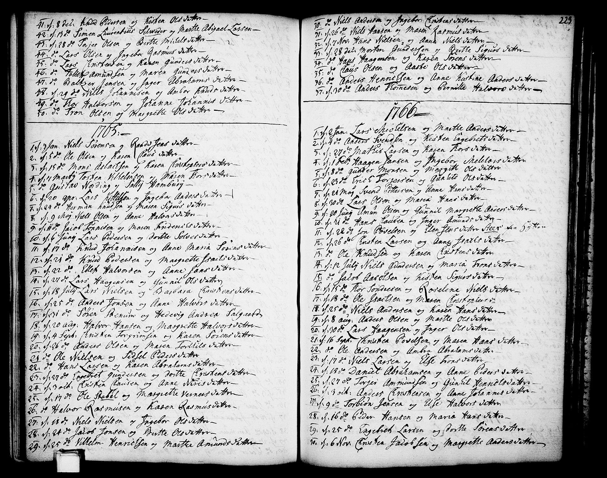 SAKO, Gjerpen kirkebøker, F/Fa/L0002: Ministerialbok nr. 2, 1747-1795, s. 223