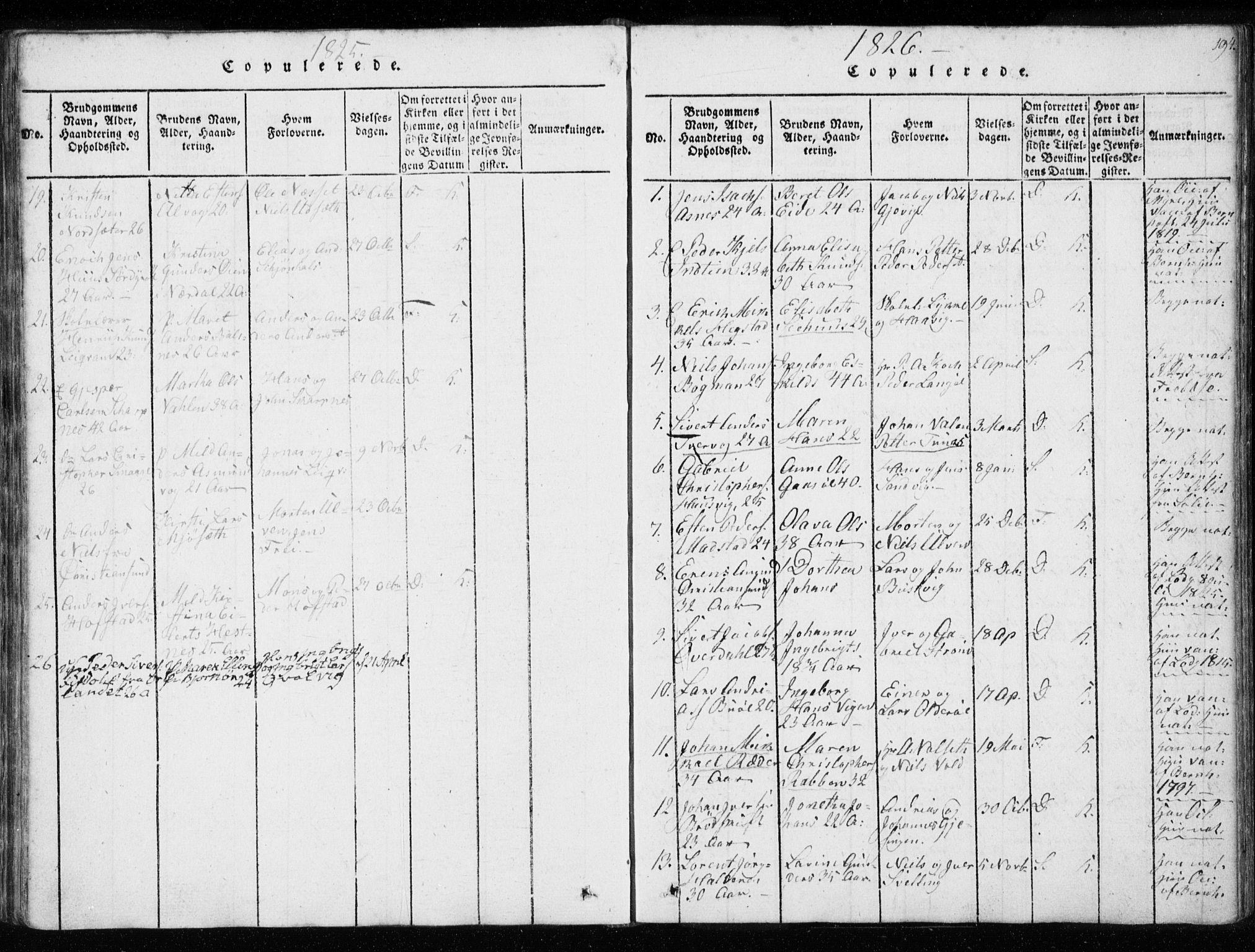 SAT, Ministerialprotokoller, klokkerbøker og fødselsregistre - Sør-Trøndelag, 634/L0527: Ministerialbok nr. 634A03, 1818-1826, s. 194
