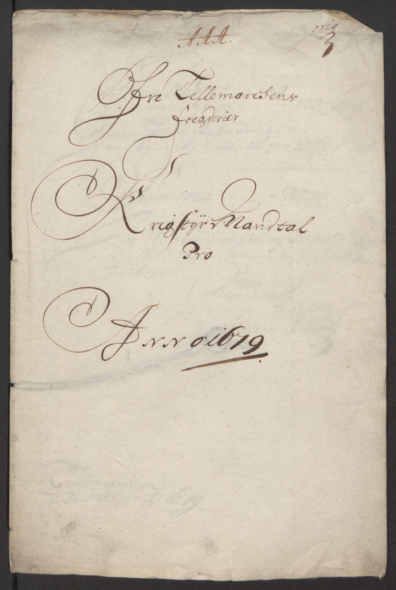 RA, Rentekammeret inntil 1814, Reviderte regnskaper, Fogderegnskap, R35/L2074: Fogderegnskap Øvre og Nedre Telemark, 1679, s. 161