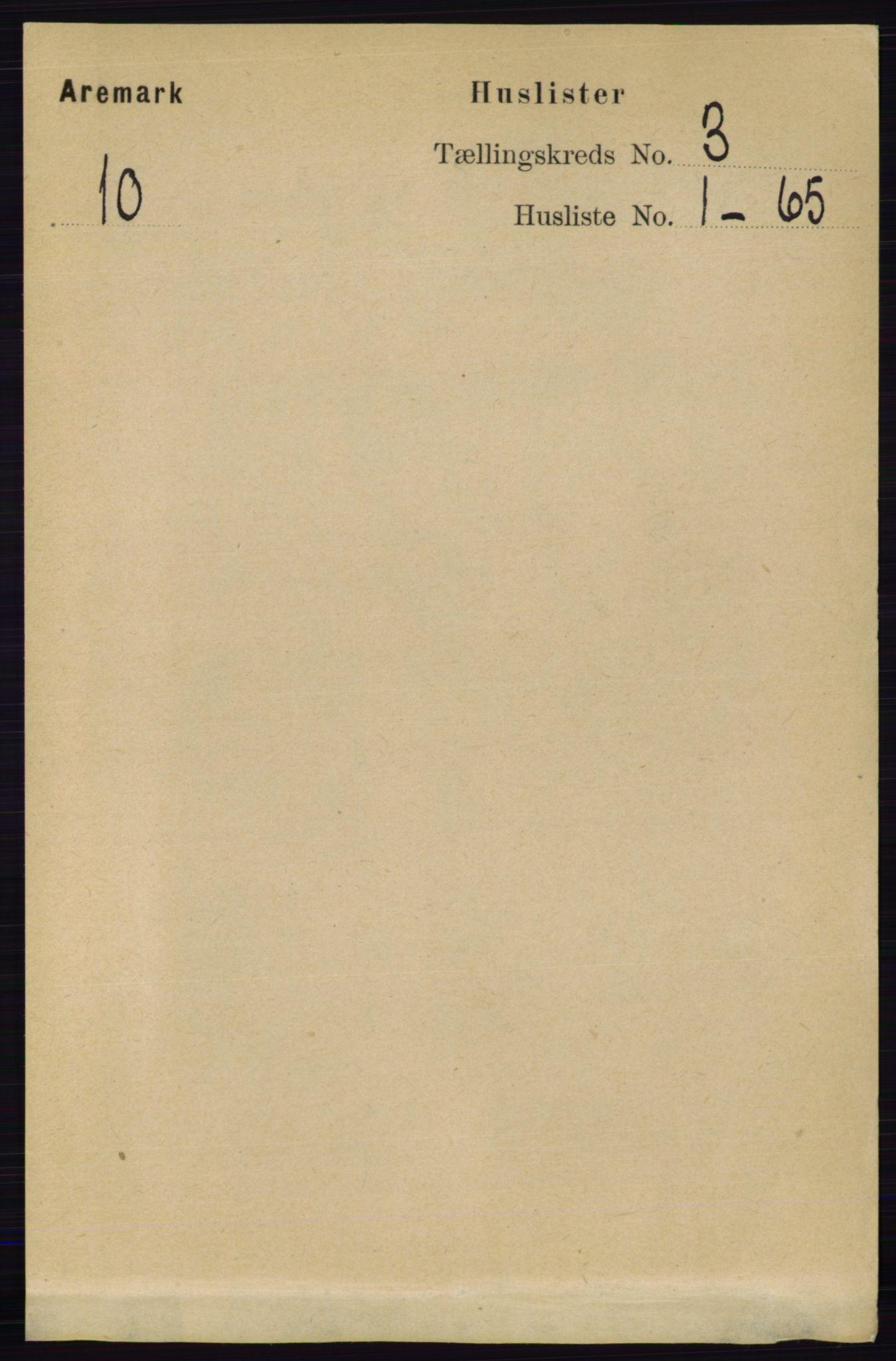 RA, Folketelling 1891 for 0118 Aremark herred, 1891, s. 1339