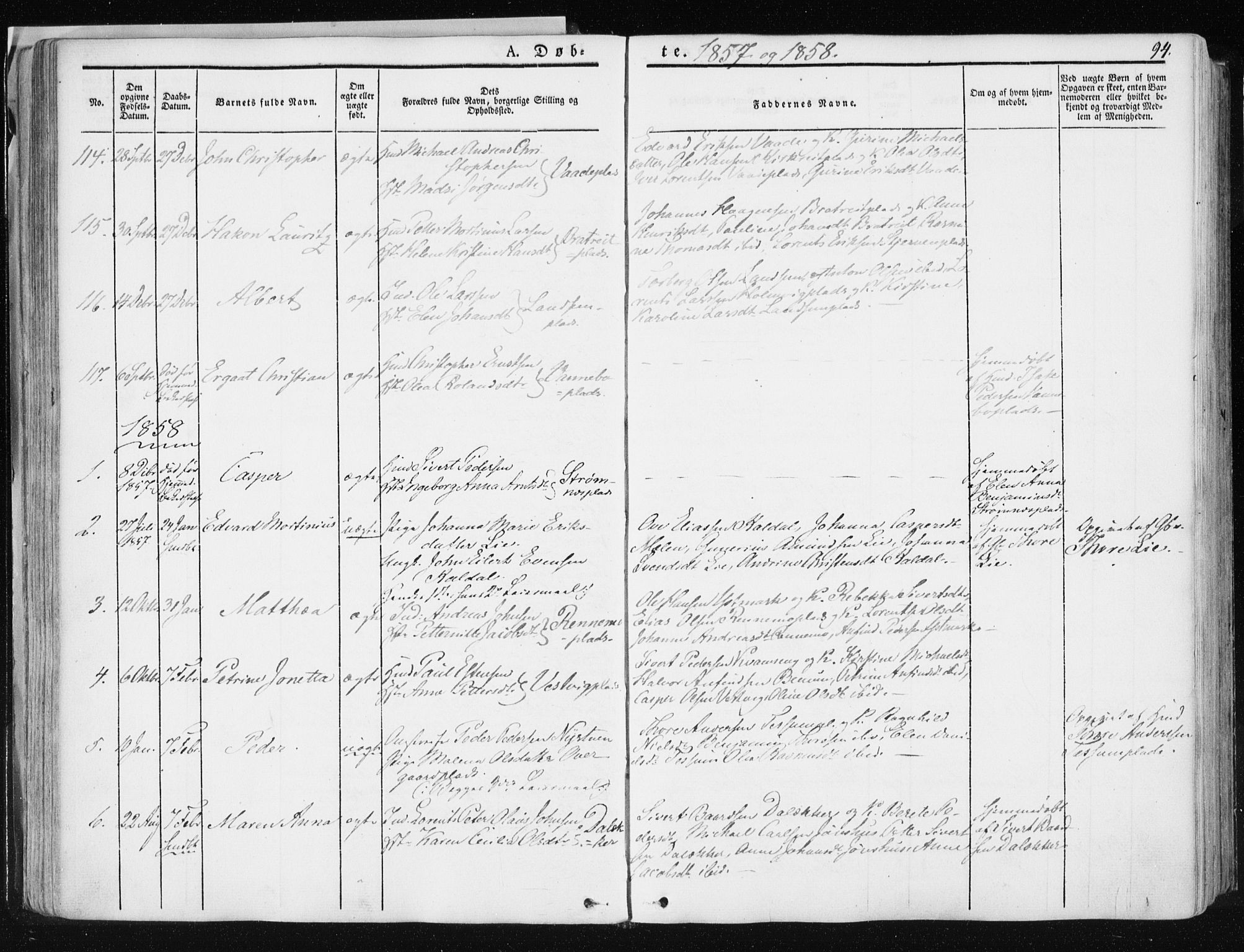 SAT, Ministerialprotokoller, klokkerbøker og fødselsregistre - Nord-Trøndelag, 741/L0393: Ministerialbok nr. 741A07, 1849-1863, s. 94