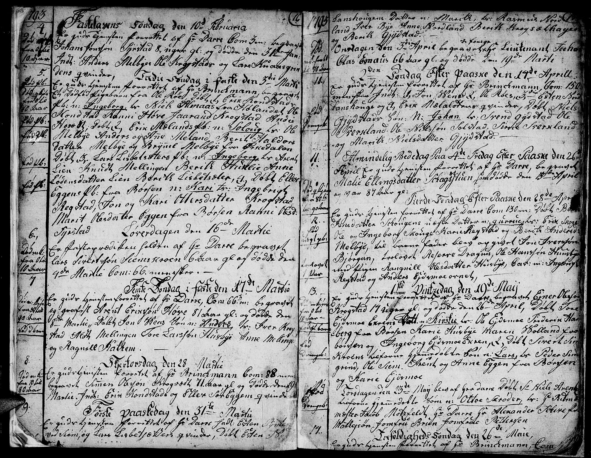 SAT, Ministerialprotokoller, klokkerbøker og fødselsregistre - Sør-Trøndelag, 667/L0794: Ministerialbok nr. 667A02, 1791-1816, s. 18-19