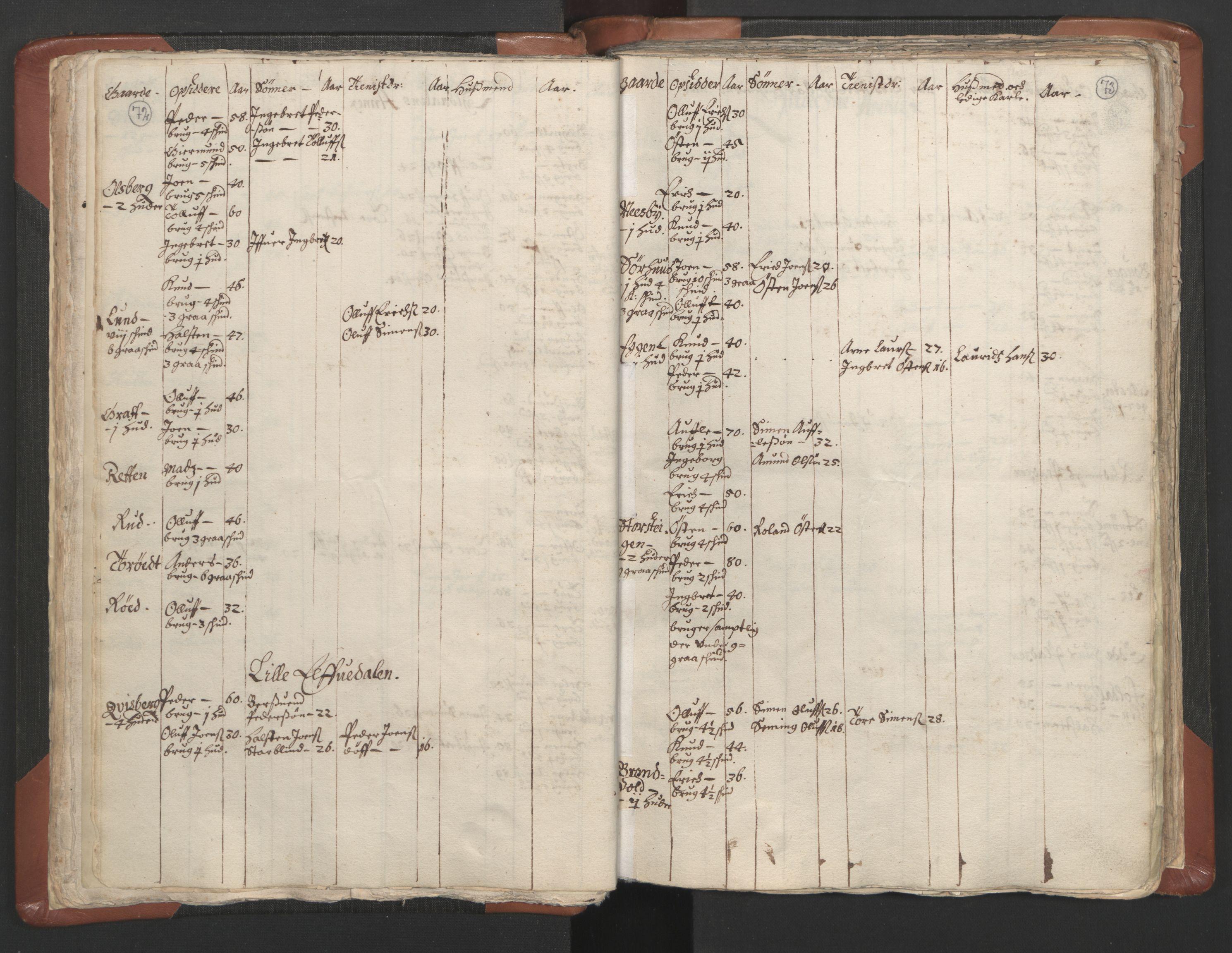 RA, Sogneprestenes manntall 1664-1666, nr. 5: Hedmark prosti, 1664-1666, s. 72-73