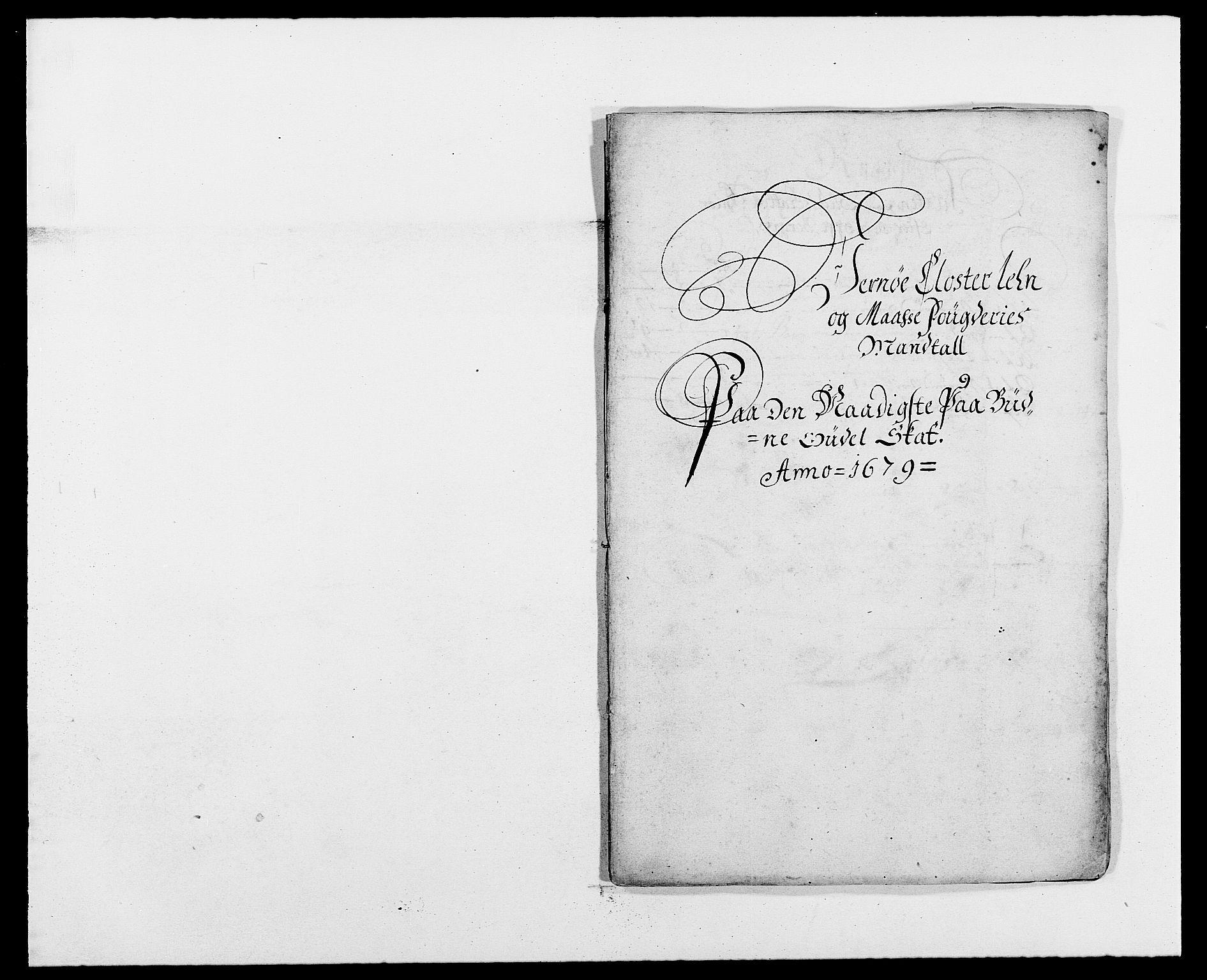RA, Rentekammeret inntil 1814, Reviderte regnskaper, Fogderegnskap, R02/L0100: Fogderegnskap Moss og Verne kloster, 1679, s. 67