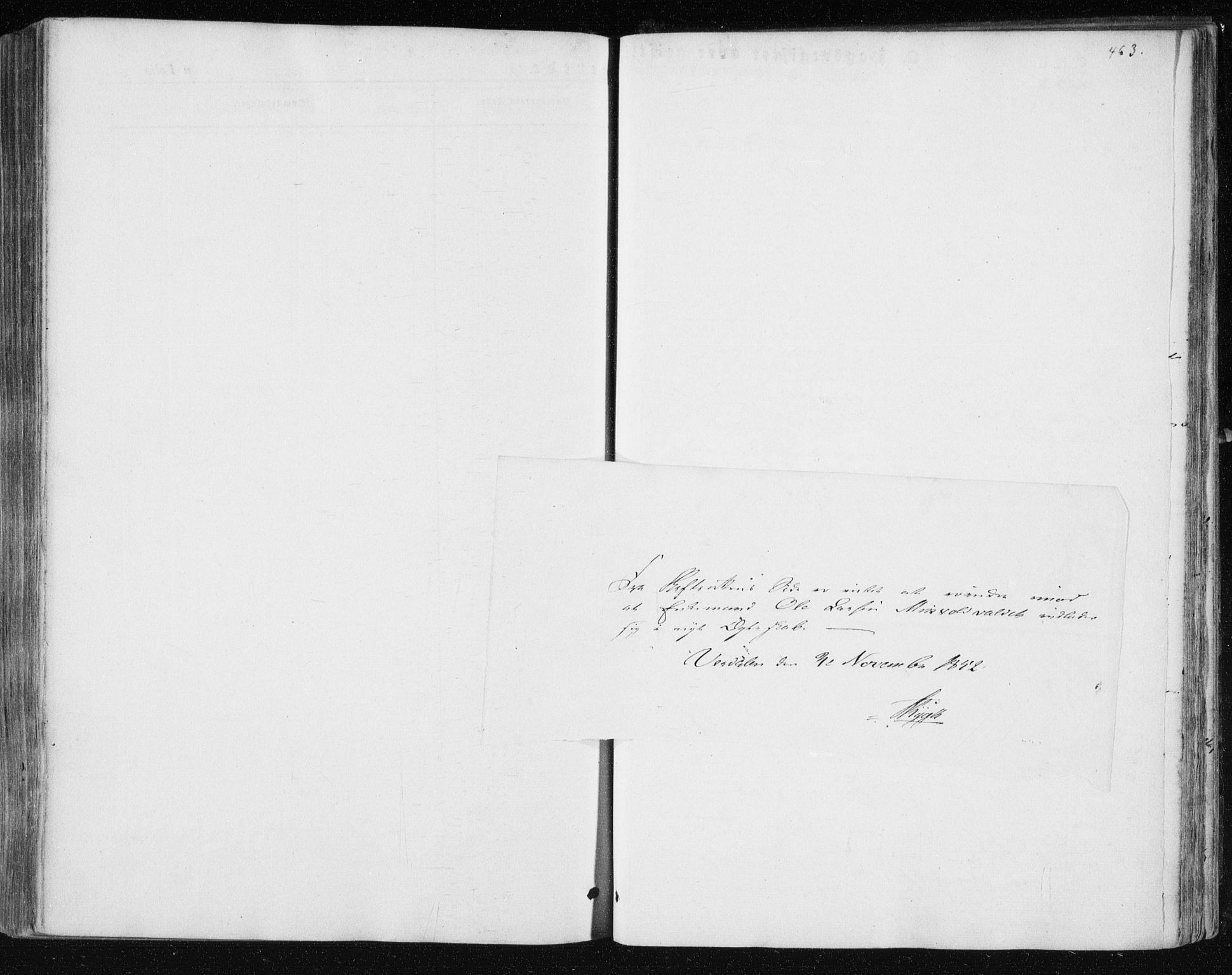 SAT, Ministerialprotokoller, klokkerbøker og fødselsregistre - Nord-Trøndelag, 723/L0240: Ministerialbok nr. 723A09, 1852-1860, s. 463