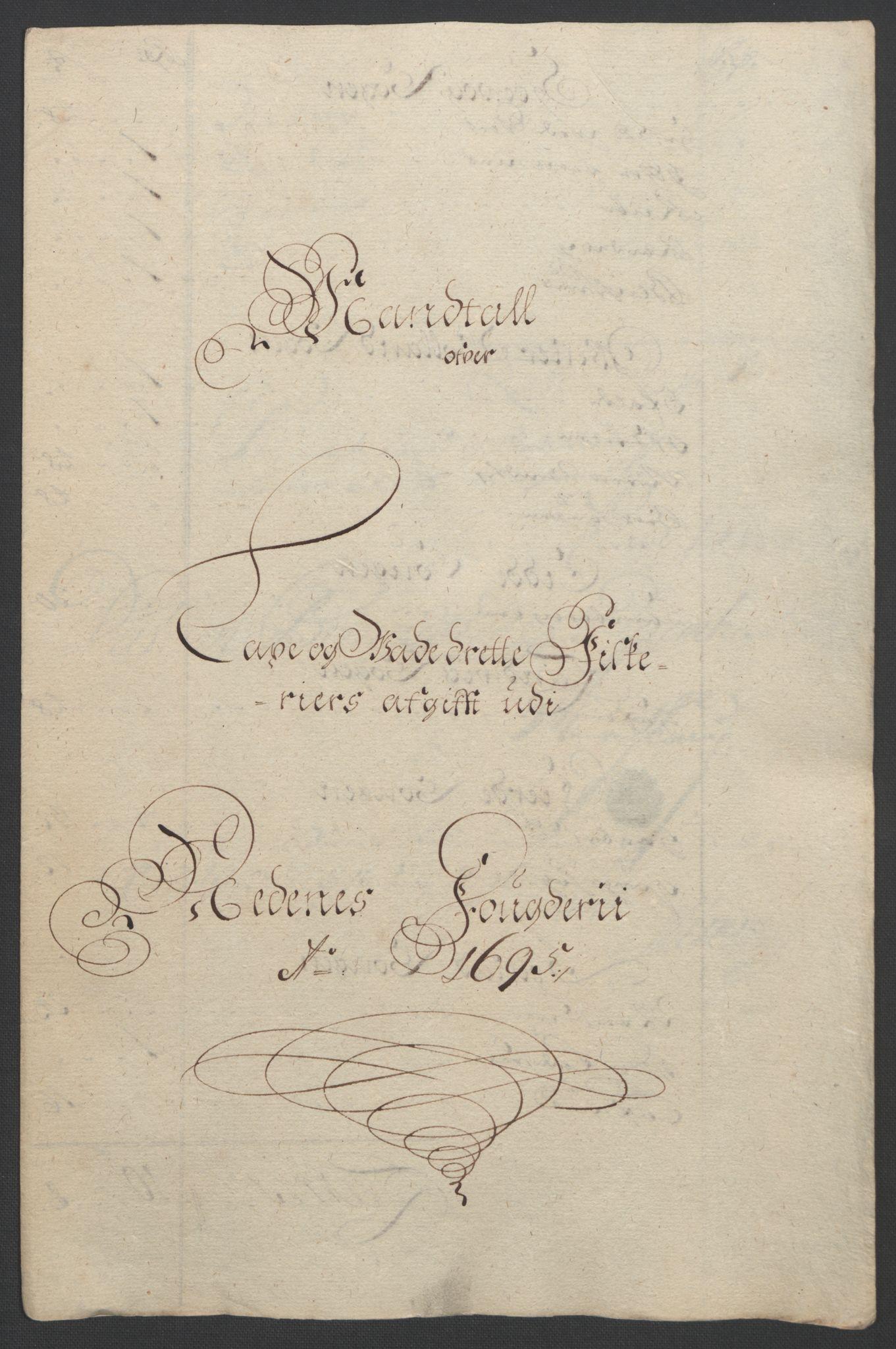 RA, Rentekammeret inntil 1814, Reviderte regnskaper, Fogderegnskap, R39/L2312: Fogderegnskap Nedenes, 1693-1695, s. 246