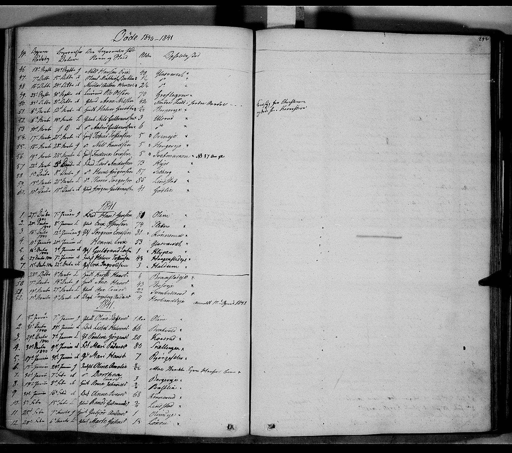 SAH, Jevnaker prestekontor, Ministerialbok nr. 6, 1837-1857, s. 242