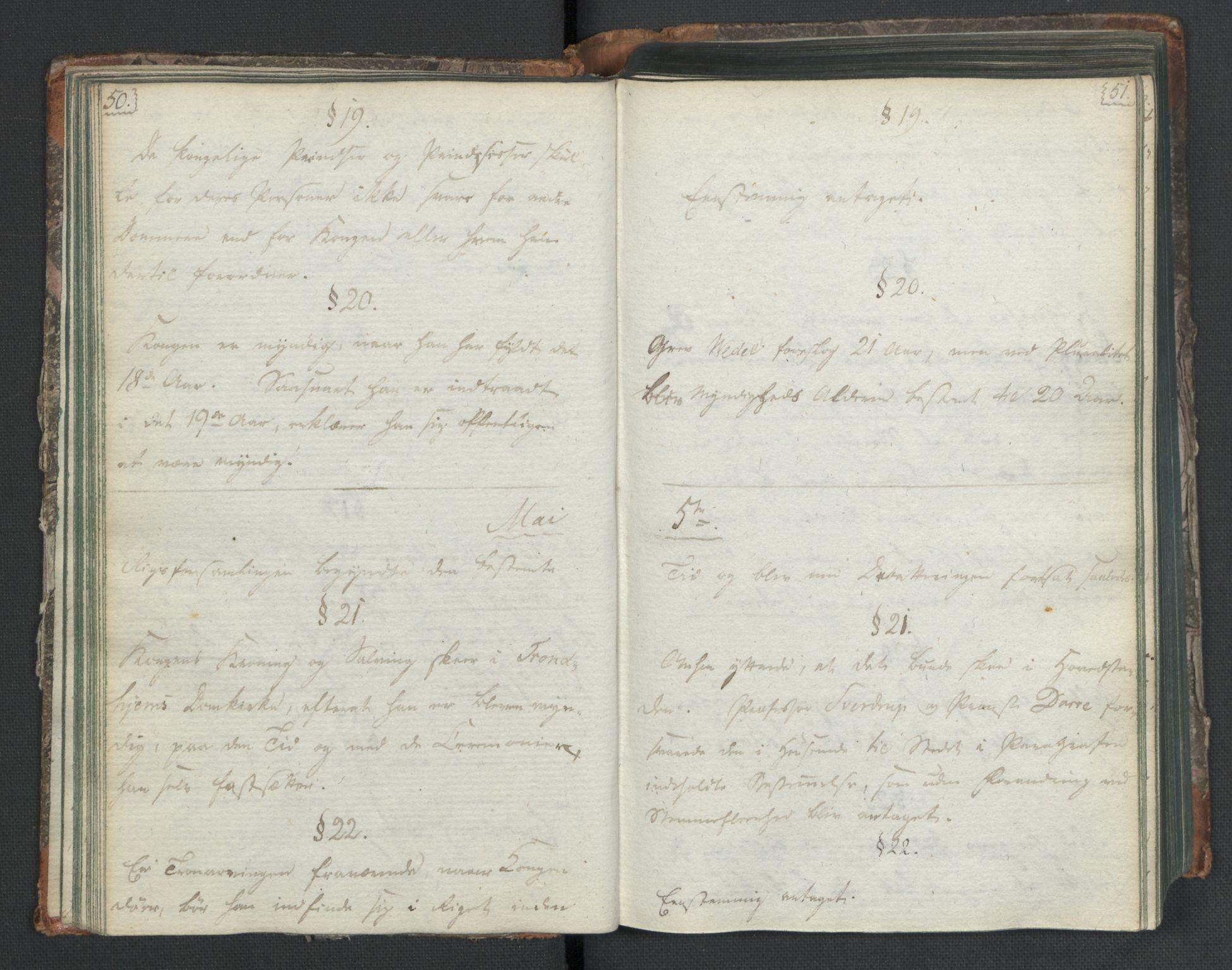 RA, Manuskriptsamlingen, H/L0021: Byfogd Gregers Winther Wulfbergs dagbok under Riksforsamlingen på Eidsvoll, 1814, s. 50-51