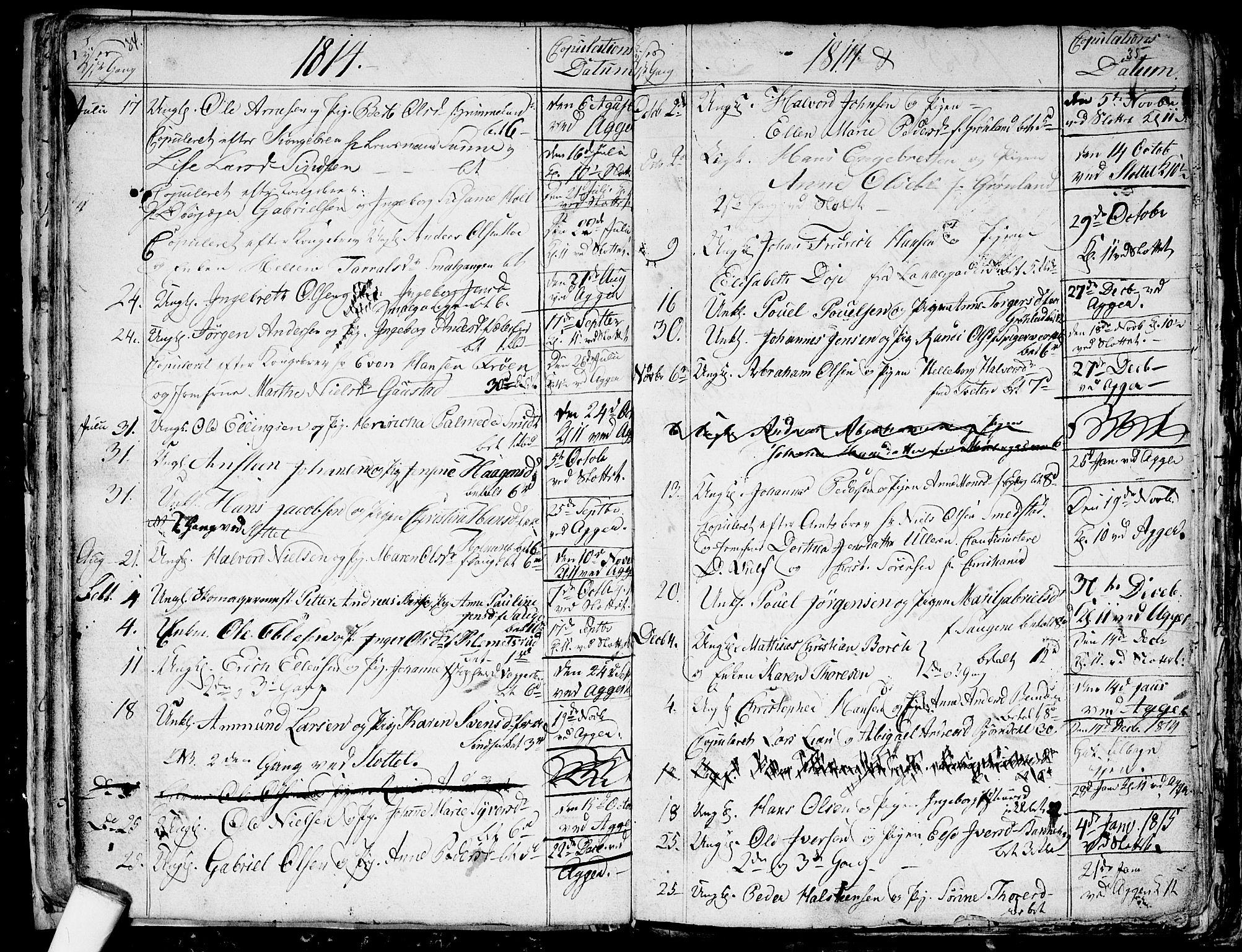 SAO, Aker prestekontor kirkebøker, G/L0001: Klokkerbok nr. 1, 1796-1826, s. 34-35