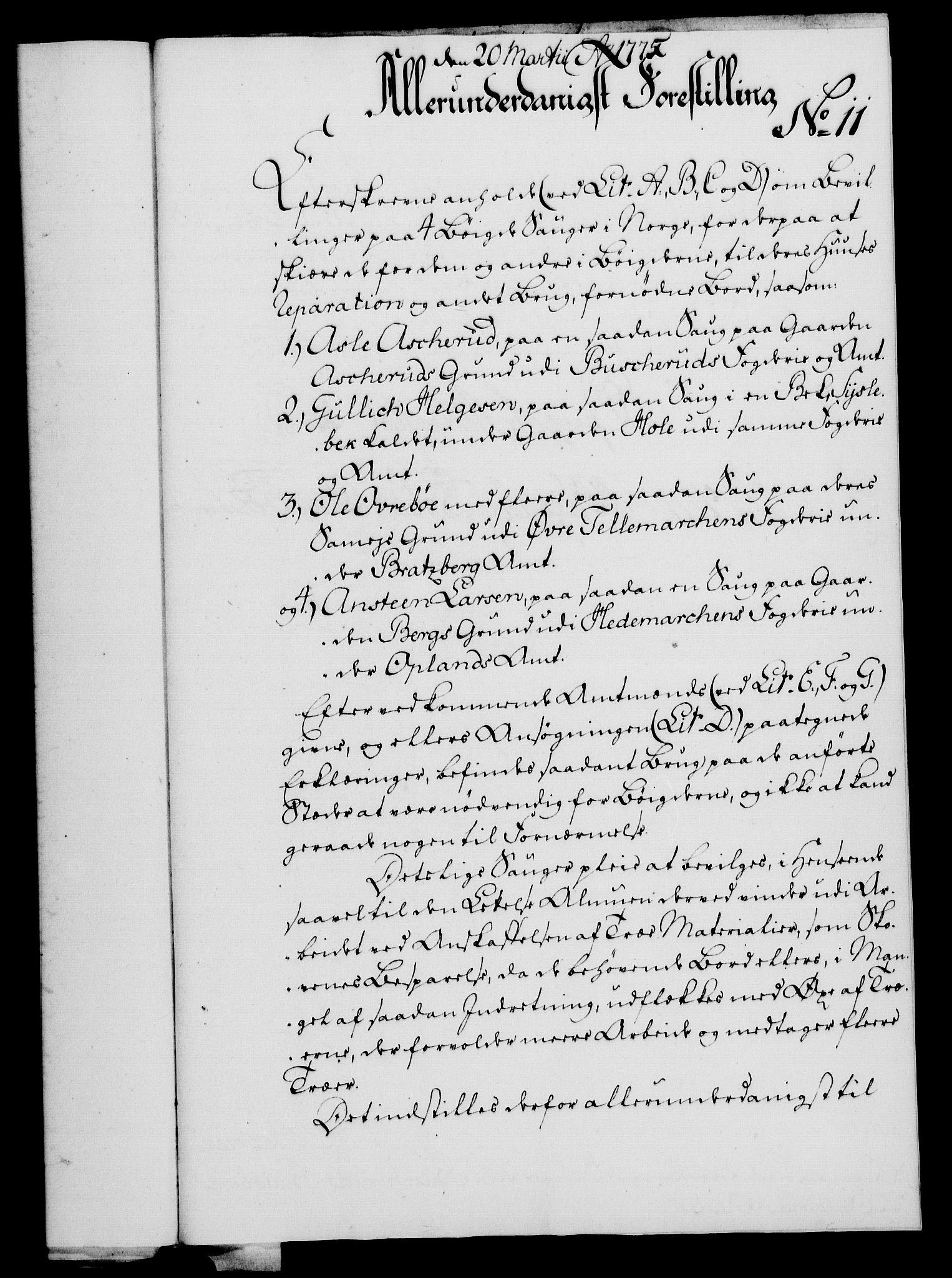 RA, Rentekammeret, Kammerkanselliet, G/Gf/Gfa/L0057: Norsk relasjons- og resolusjonsprotokoll (merket RK 52.57), 1775, s. 60