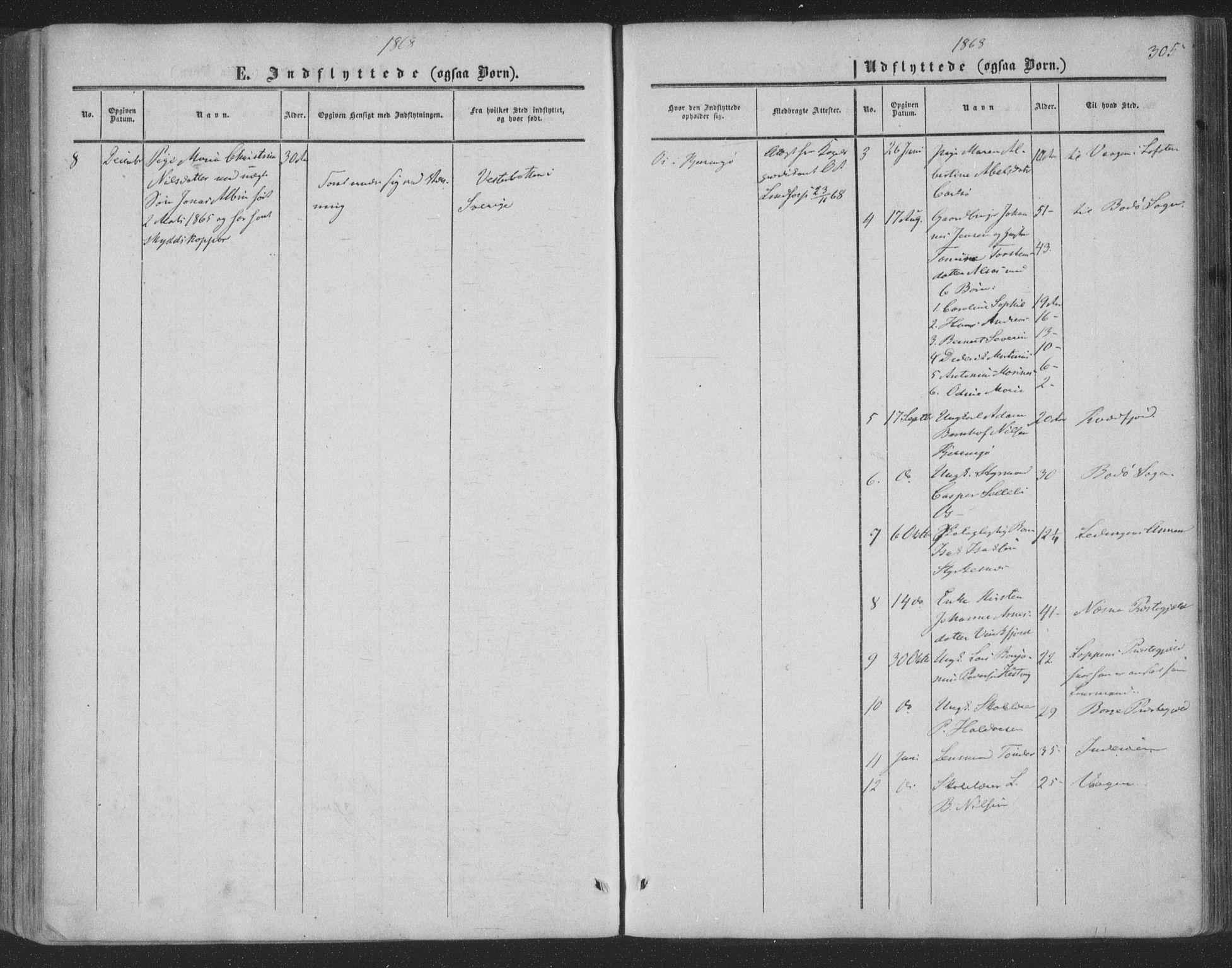 SAT, Ministerialprotokoller, klokkerbøker og fødselsregistre - Nordland, 853/L0770: Ministerialbok nr. 853A09, 1857-1870, s. 305
