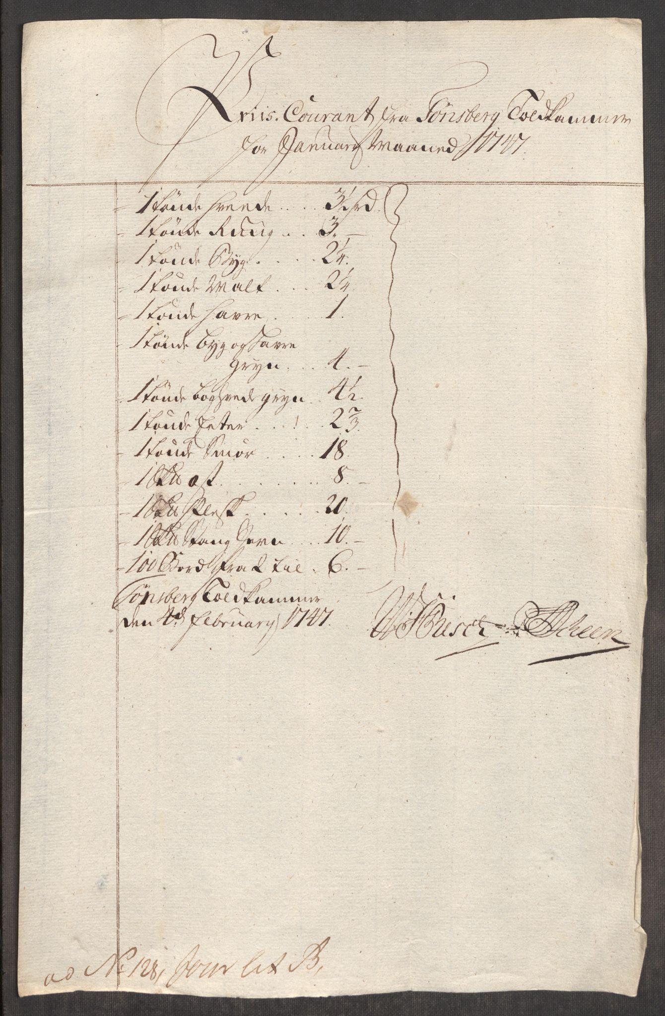 RA, Rentekammeret inntil 1814, Realistisk ordnet avdeling, Oe/L0003: [Ø1]: Priskuranter, 1745-1748, s. 548