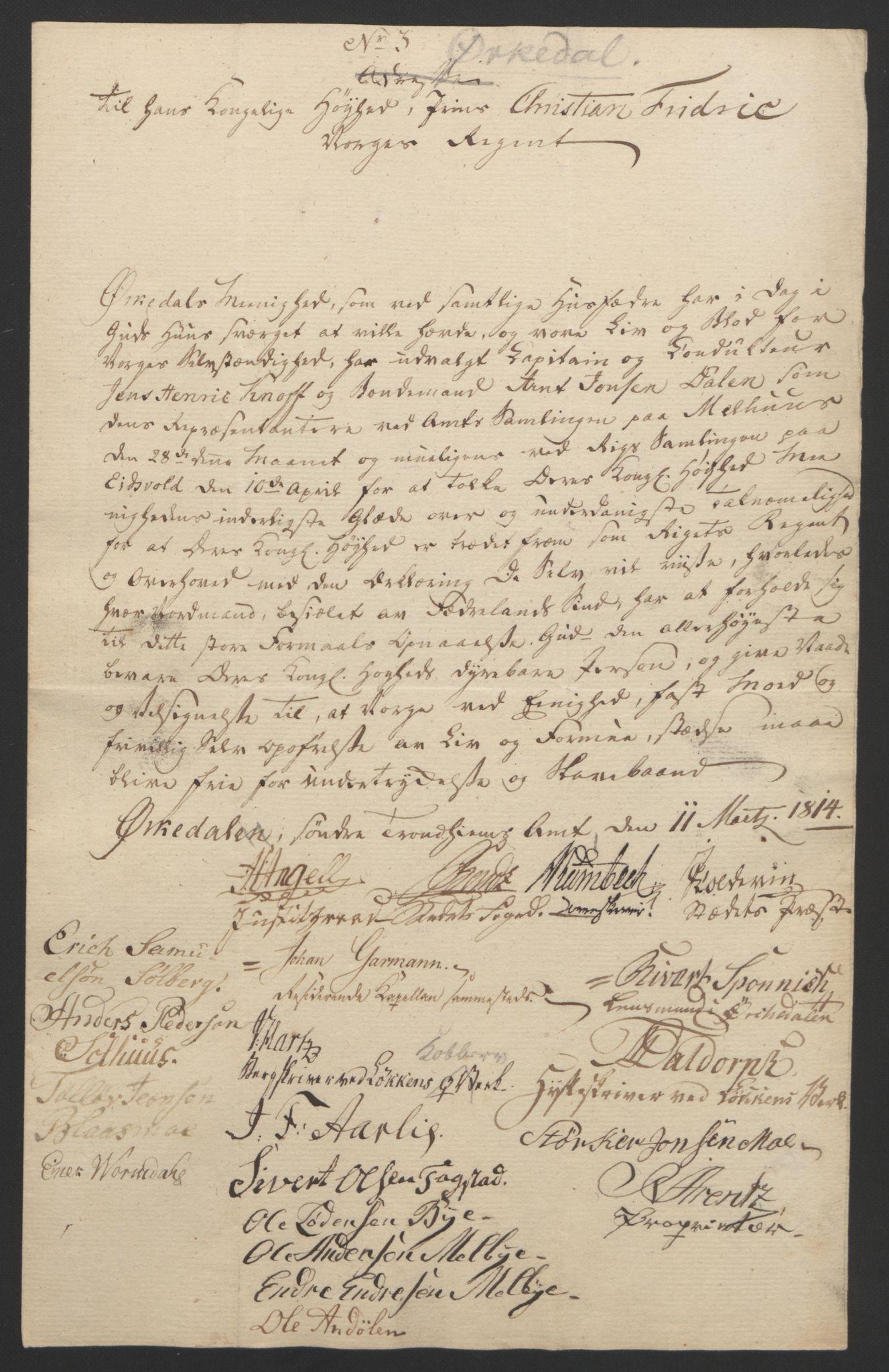 RA, Statsrådssekretariatet, D/Db/L0008: Fullmakter for Eidsvollsrepresentantene i 1814. , 1814, s. 448