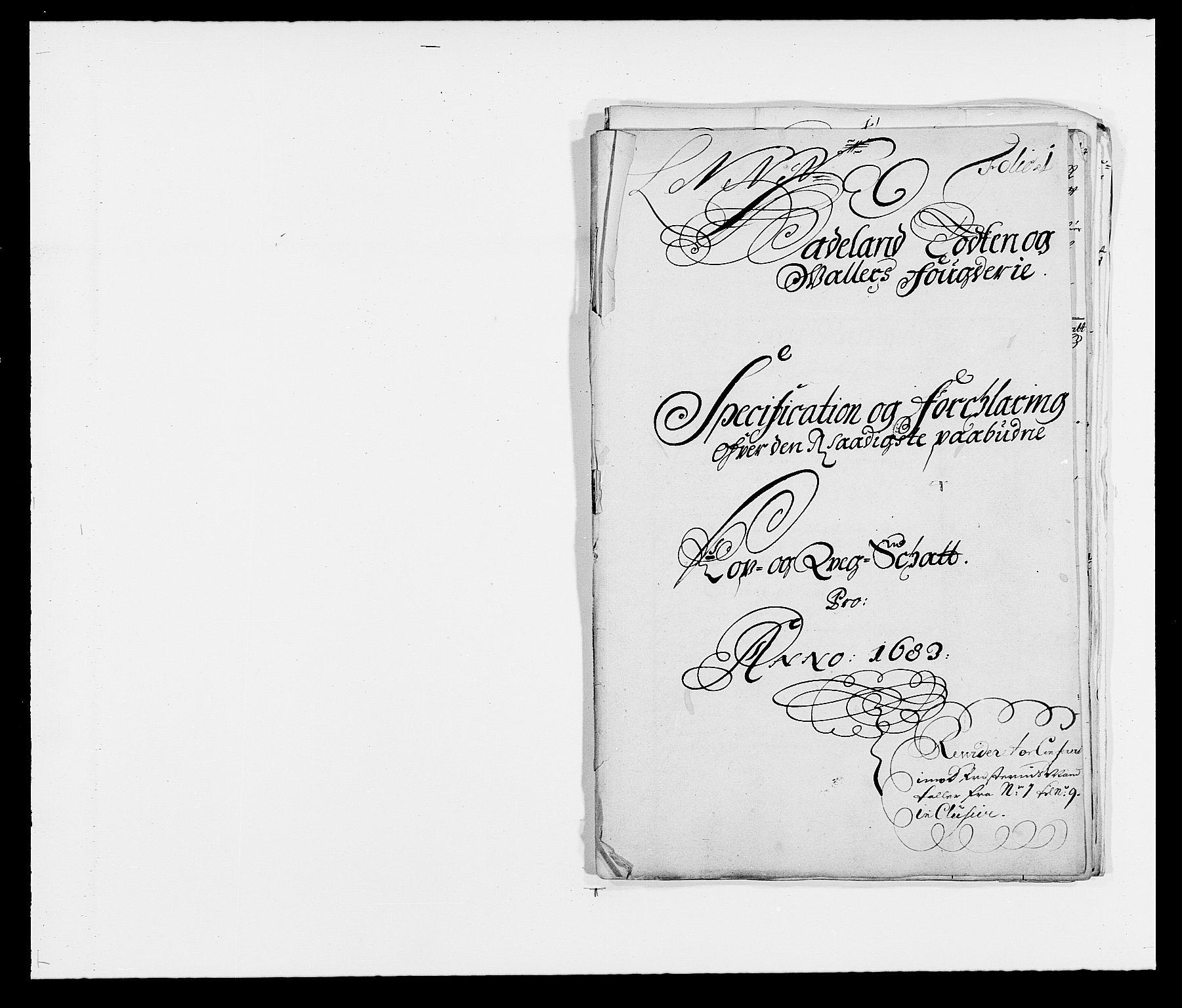 RA, Rentekammeret inntil 1814, Reviderte regnskaper, Fogderegnskap, R18/L1282: Fogderegnskap Hadeland, Toten og Valdres, 1683, s. 223