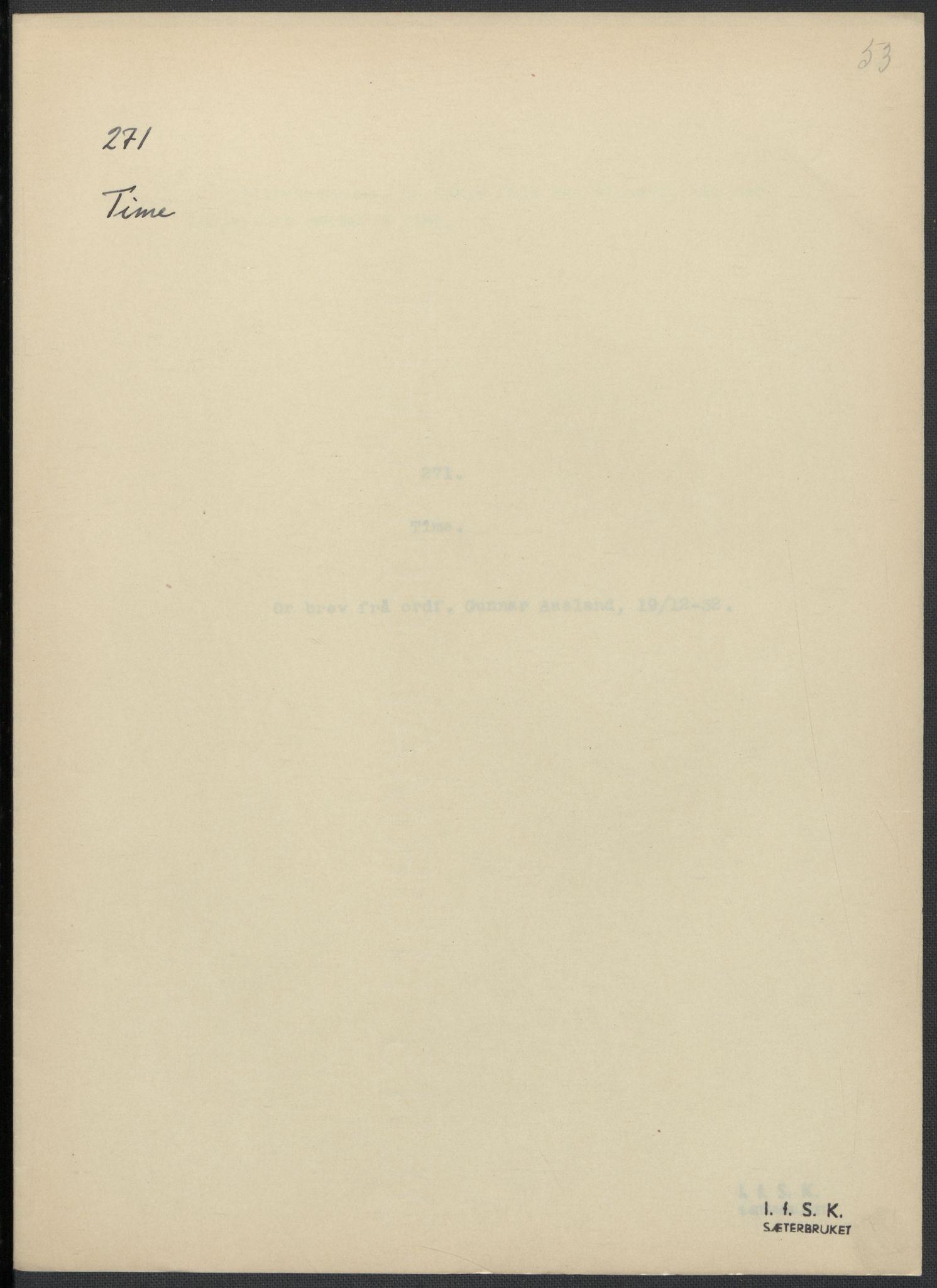 RA, Instituttet for sammenlignende kulturforskning, F/Fc/L0009: Eske B9:, 1932-1935, s. 53