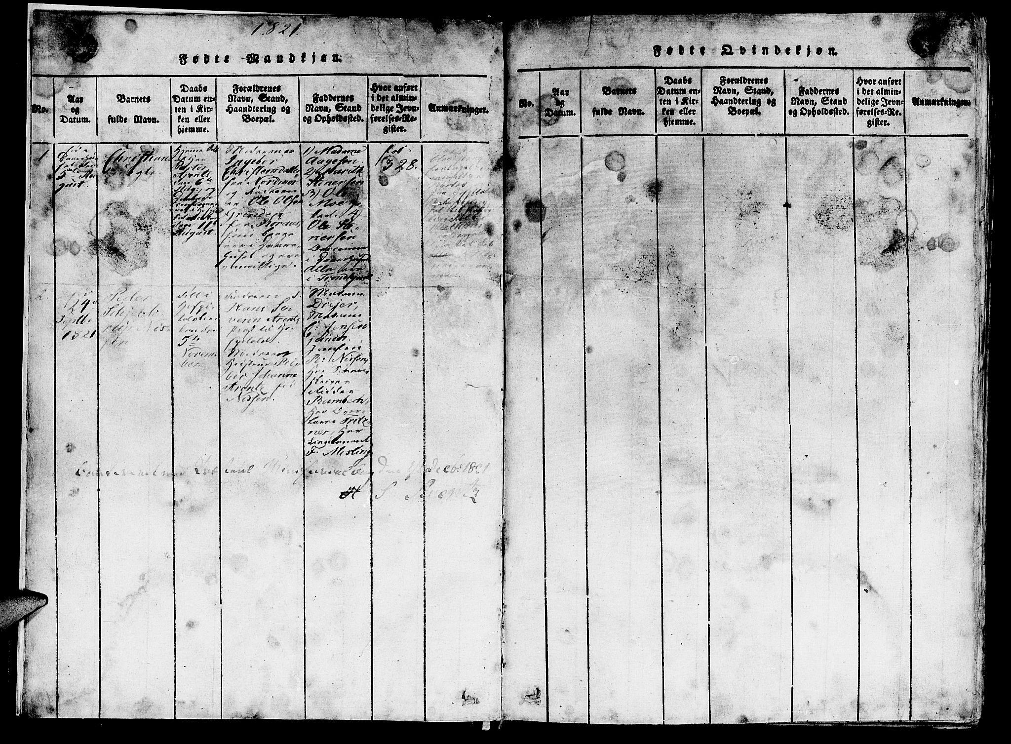 SAT, Ministerialprotokoller, klokkerbøker og fødselsregistre - Sør-Trøndelag, 623/L0478: Klokkerbok nr. 623C01, 1815-1873, s. 7