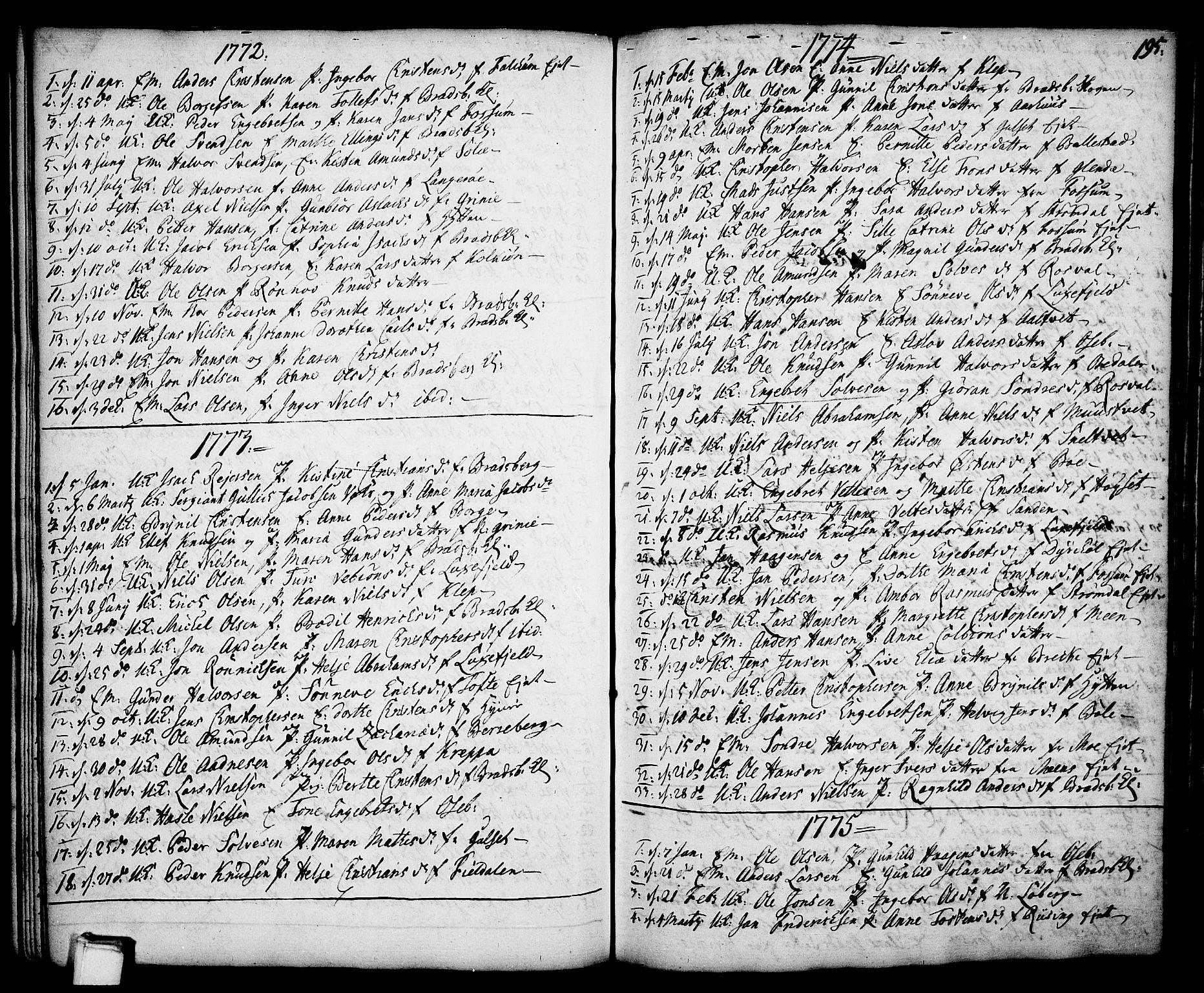 SAKO, Gjerpen kirkebøker, F/Fa/L0002: Ministerialbok nr. 2, 1747-1795, s. 195