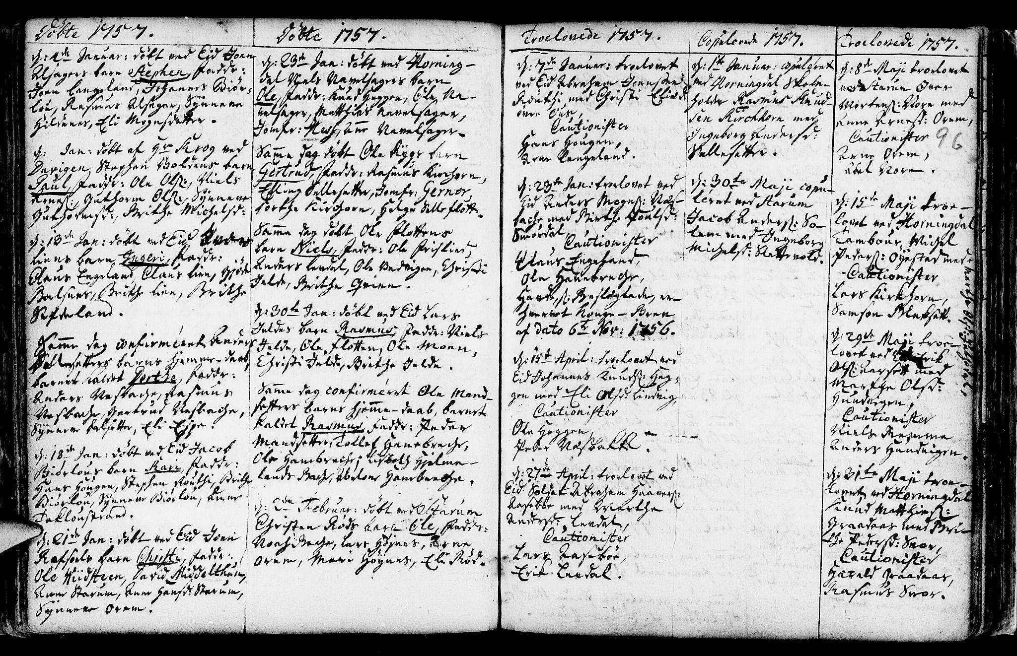 SAB, Eid Sokneprestembete, H/Haa: Ministerialbok nr. A 2, 1741-1769, s. 96