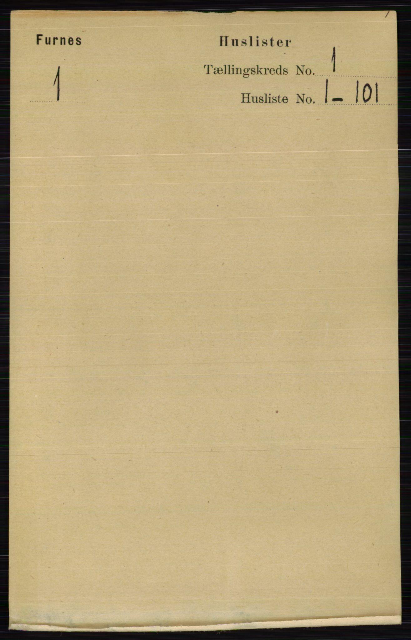 RA, Folketelling 1891 for 0413 Furnes herred, 1891, s. 25