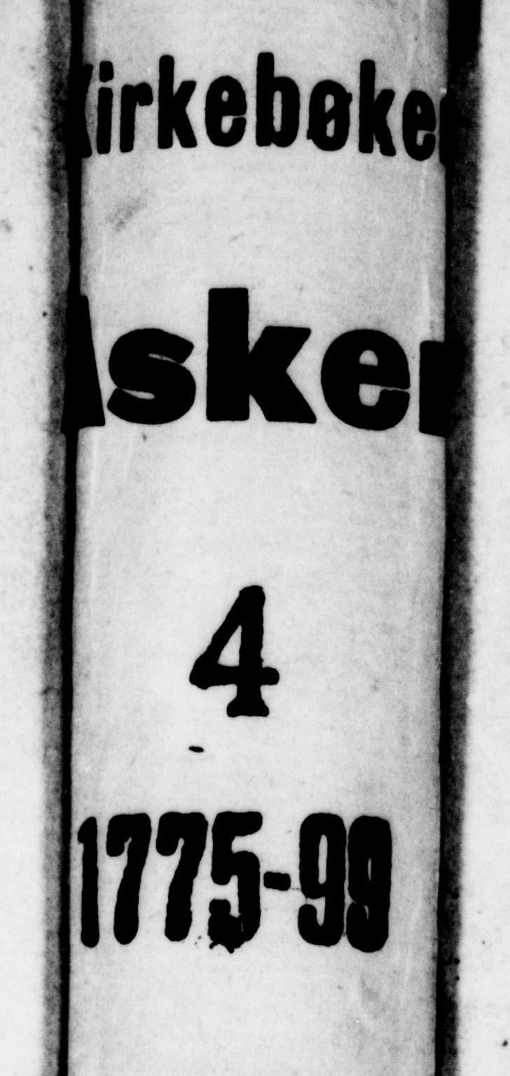 SAO, Asker prestekontor Kirkebøker, F/Fa/L0004: Ministerialbok nr. I 4, 1778-1799