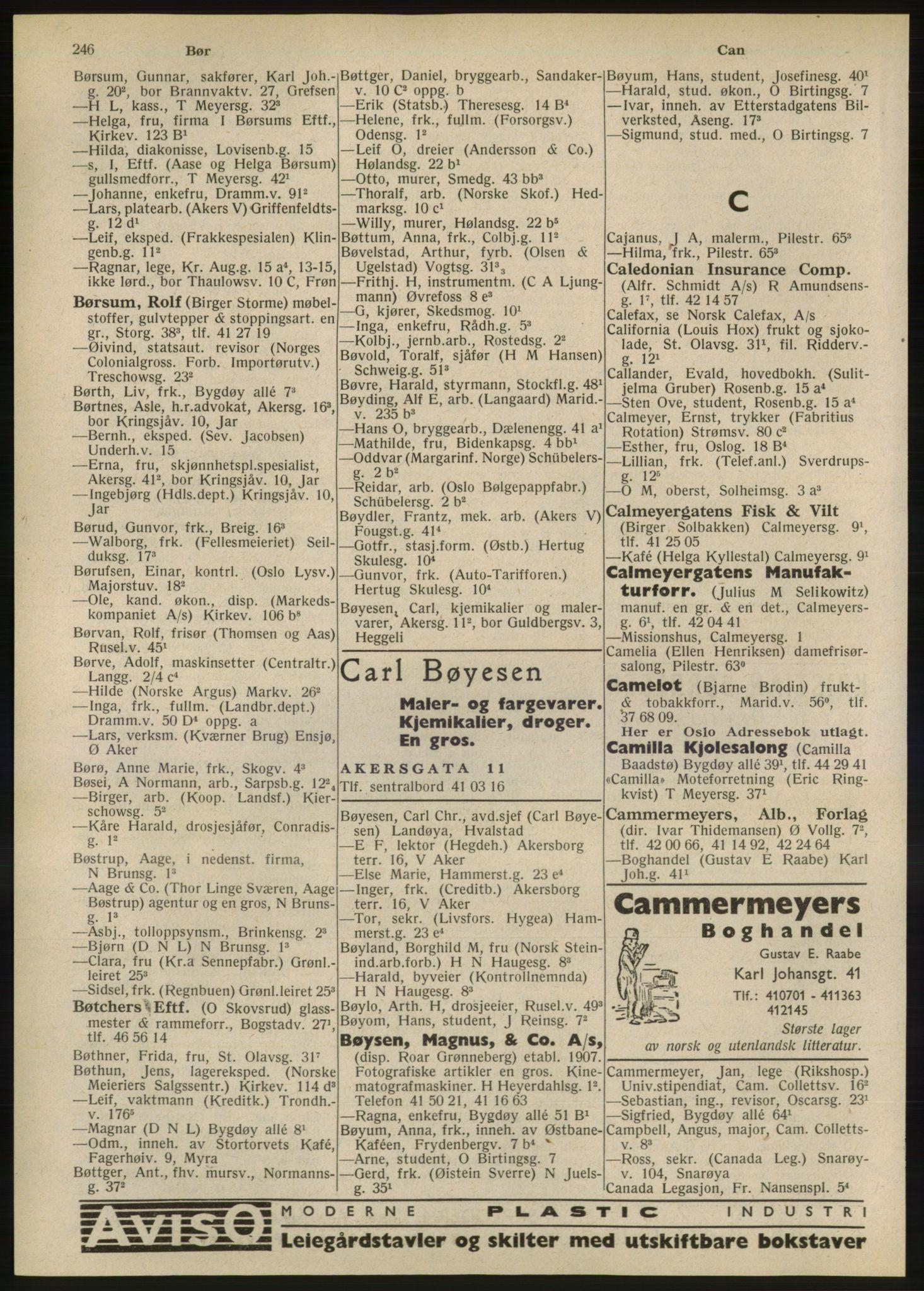 RA, Oslo adressebok (publikasjon)*, 1947, s. 246