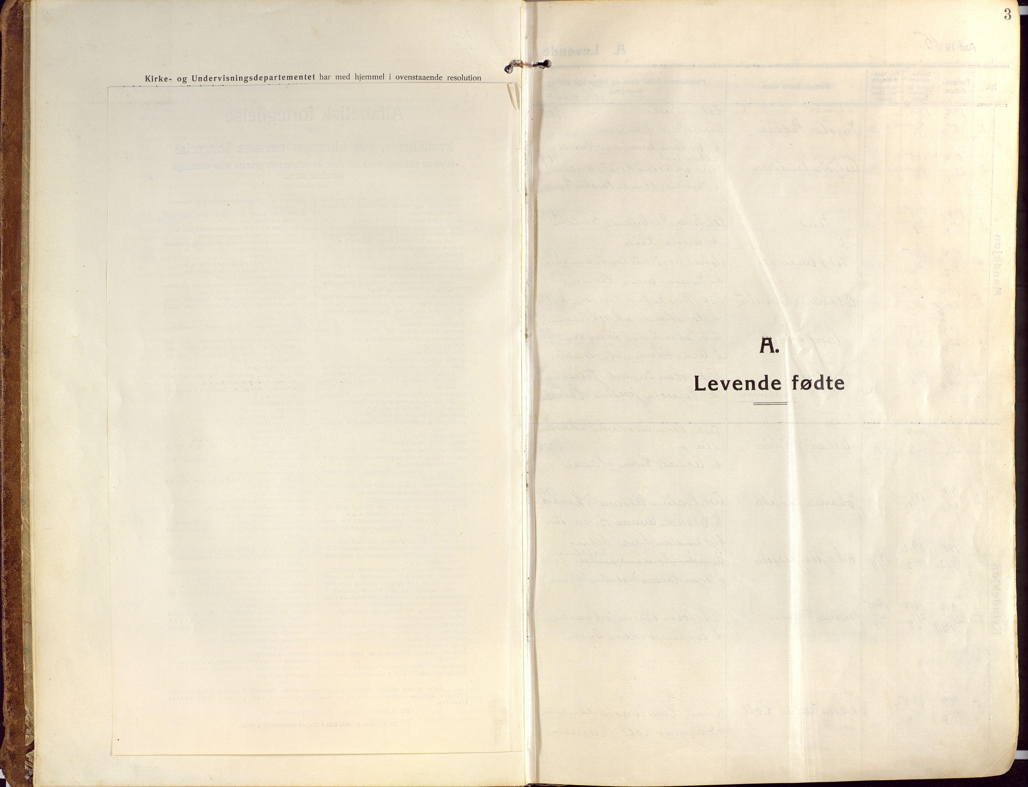 SATØ, Ibestad sokneprestembete, Ministerialbok nr. 18, 1915-1929, s. 3