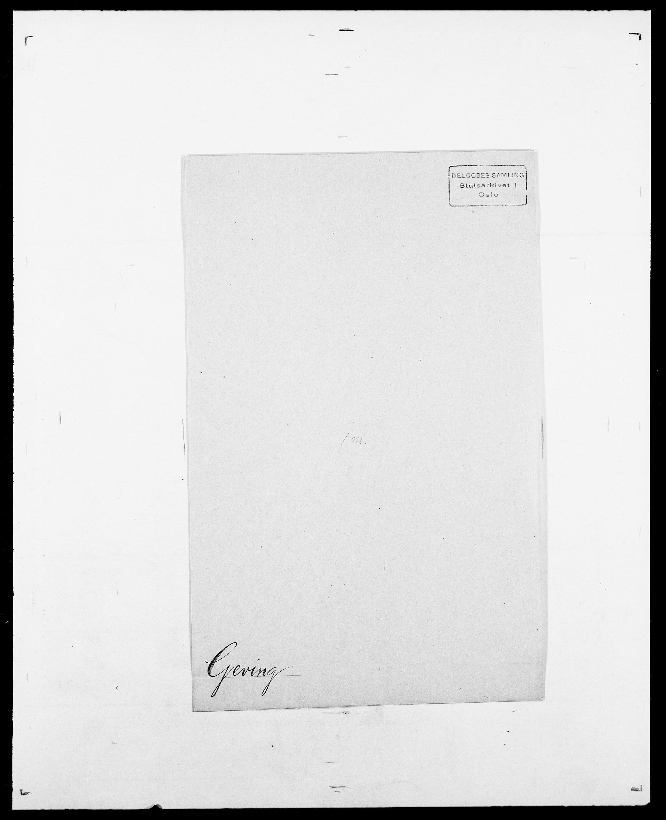 SAO, Delgobe, Charles Antoine - samling, D/Da/L0013: Forbos - Geving, s. 676