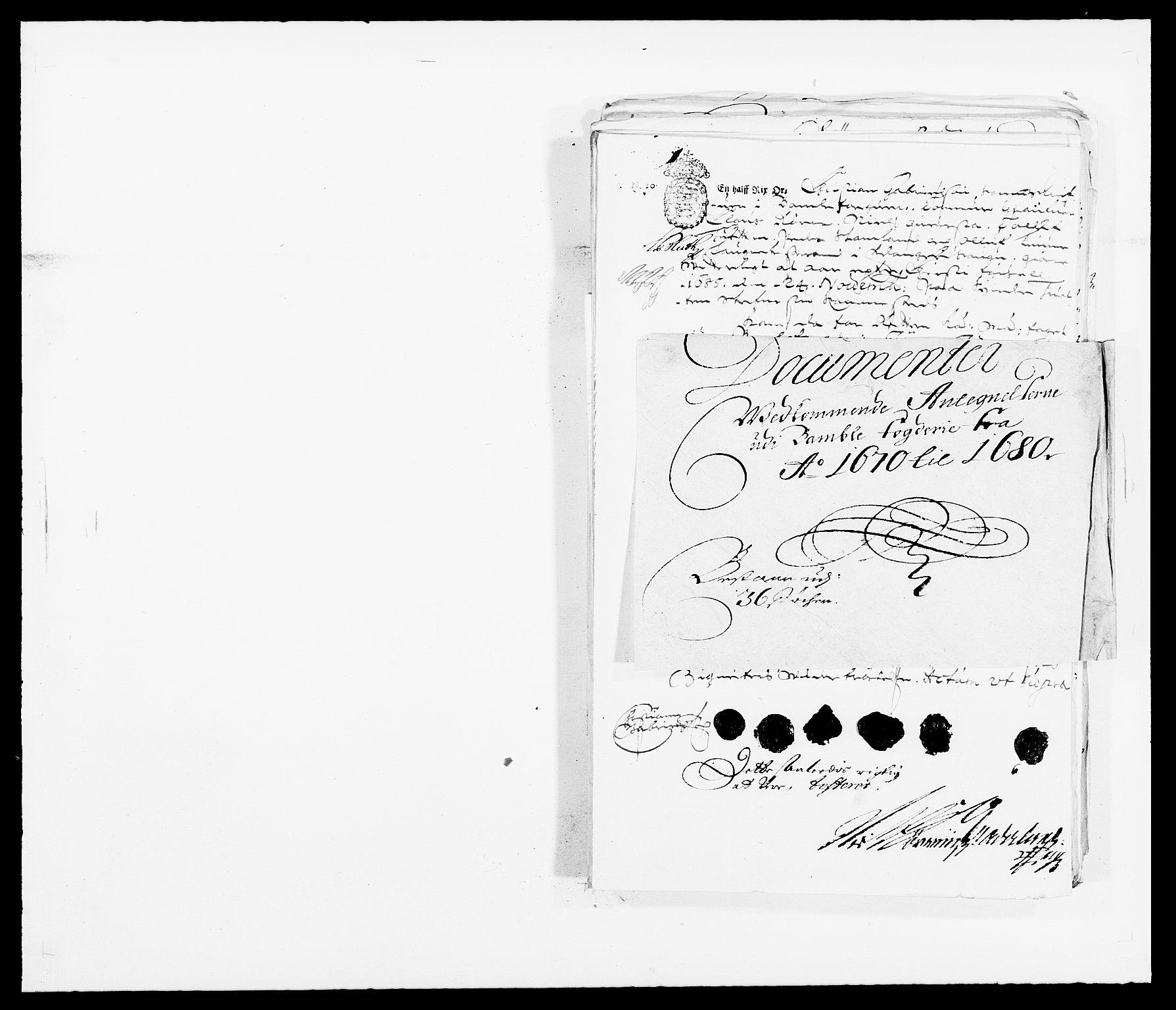 RA, Rentekammeret inntil 1814, Reviderte regnskaper, Fogderegnskap, R34/L2048: Fogderegnskap Bamble, 1685-1687, s. 356