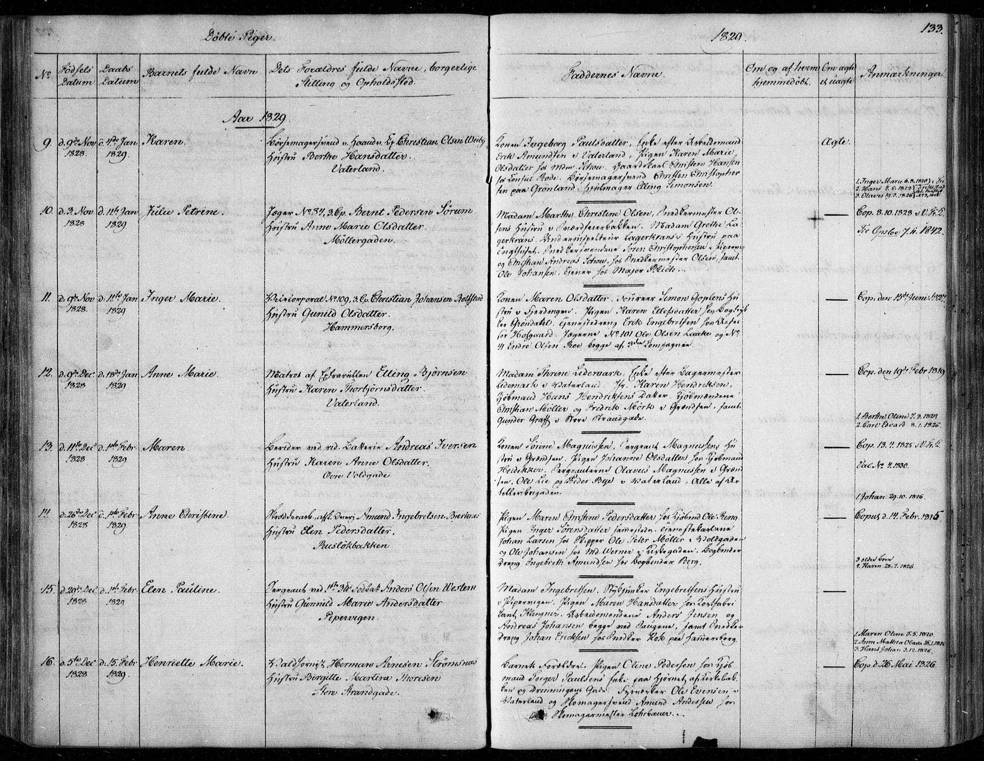 SAO, Garnisonsmenigheten Kirkebøker, F/Fa/L0006: Ministerialbok nr. 6, 1828-1841, s. 133