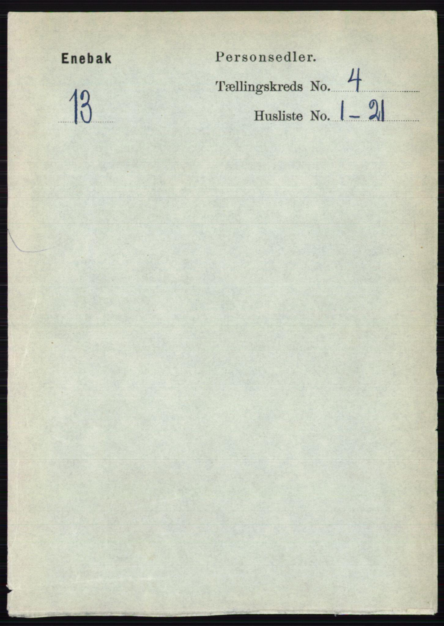 RA, Folketelling 1891 for 0229 Enebakk herred, 1891, s. 1474