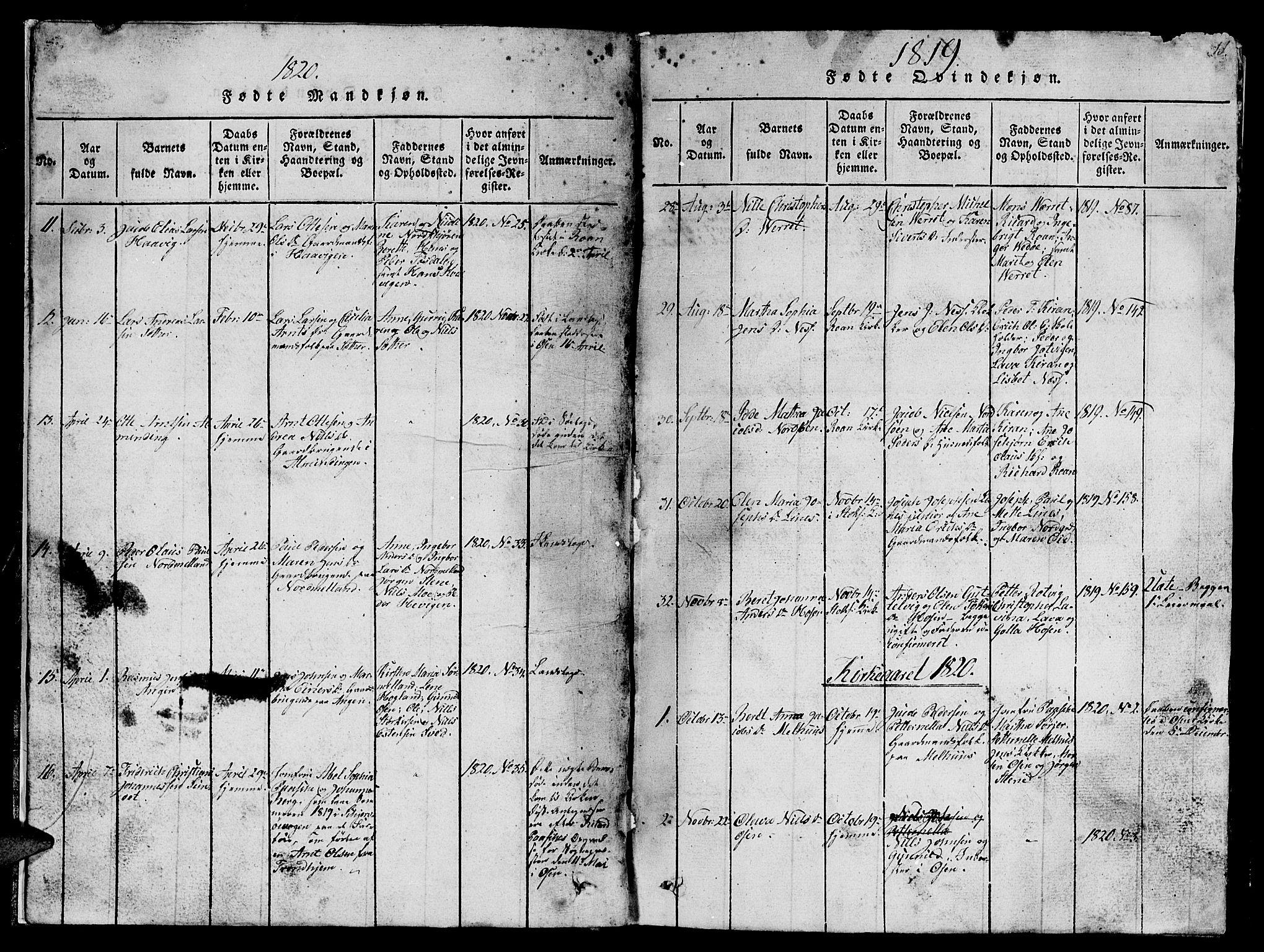 SAT, Ministerialprotokoller, klokkerbøker og fødselsregistre - Sør-Trøndelag, 657/L0714: Klokkerbok nr. 657C01, 1818-1868, s. 11