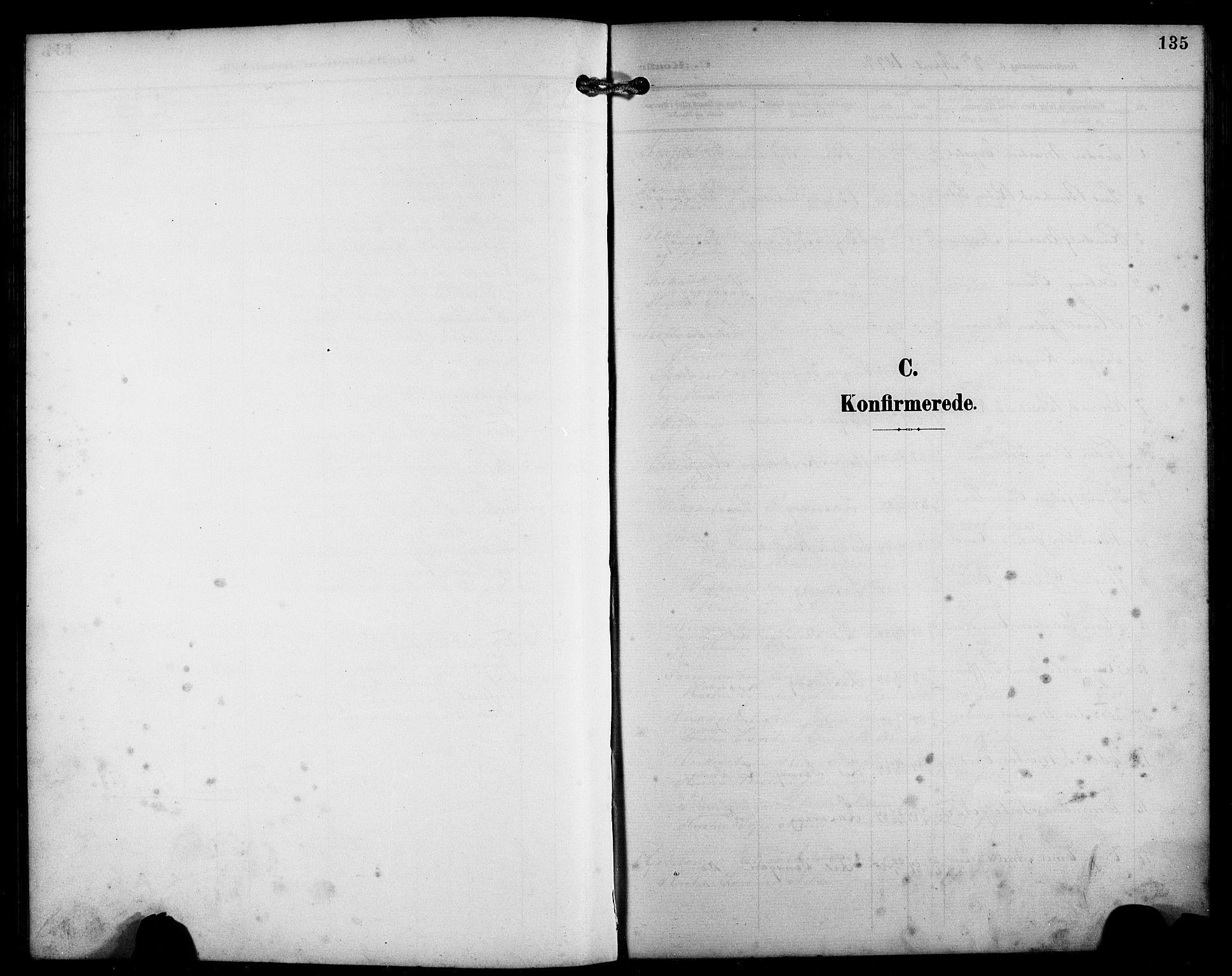 SAB, Laksevåg Sokneprestembete, H/Ha/Hab/Haba/L0004: Klokkerbok nr. A 4, 1899-1909, s. 135