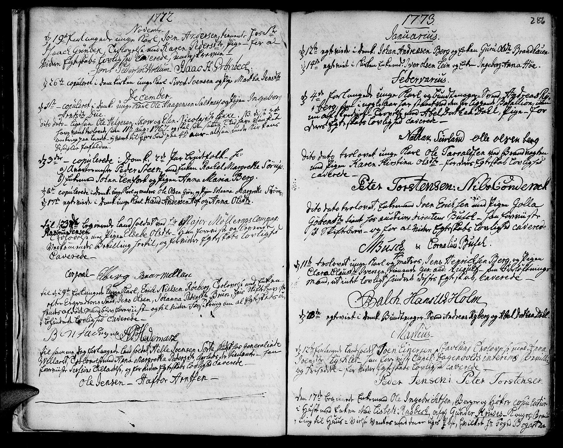 SAT, Ministerialprotokoller, klokkerbøker og fødselsregistre - Sør-Trøndelag, 601/L0038: Ministerialbok nr. 601A06, 1766-1877, s. 286