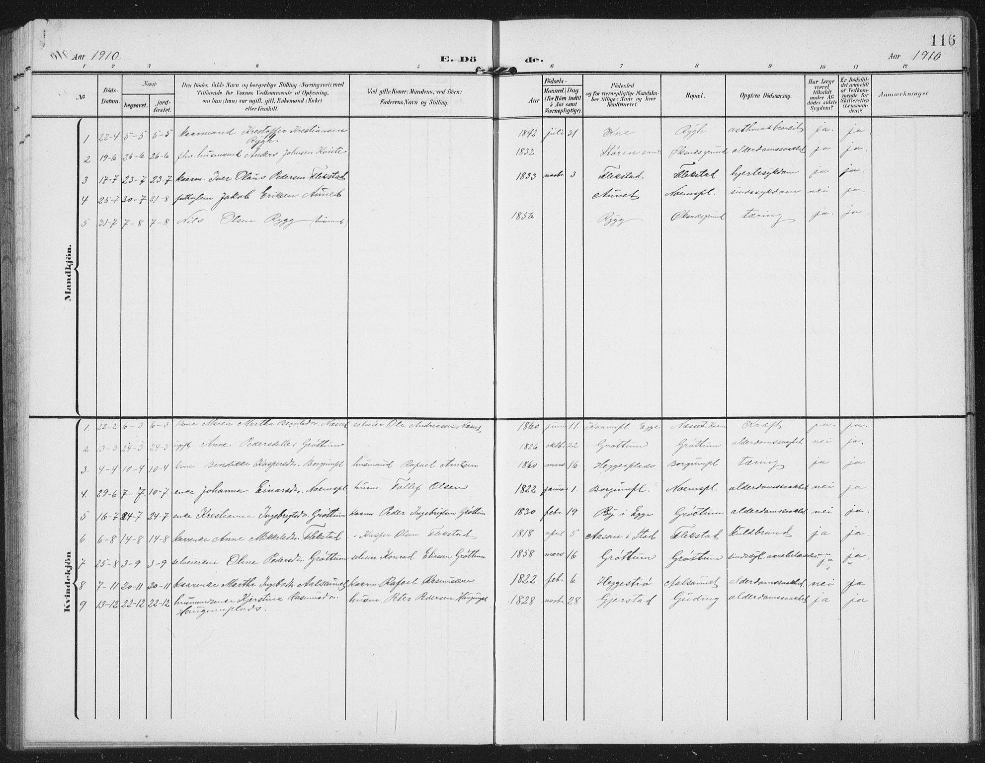 SAT, Ministerialprotokoller, klokkerbøker og fødselsregistre - Nord-Trøndelag, 747/L0460: Klokkerbok nr. 747C02, 1908-1939, s. 116
