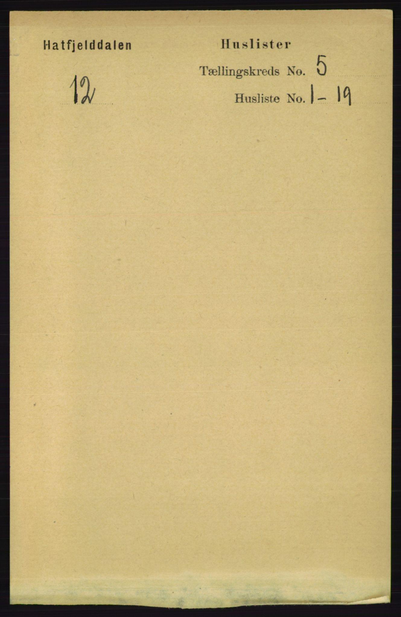 RA, Folketelling 1891 for 1826 Hattfjelldal herred, 1891, s. 1107