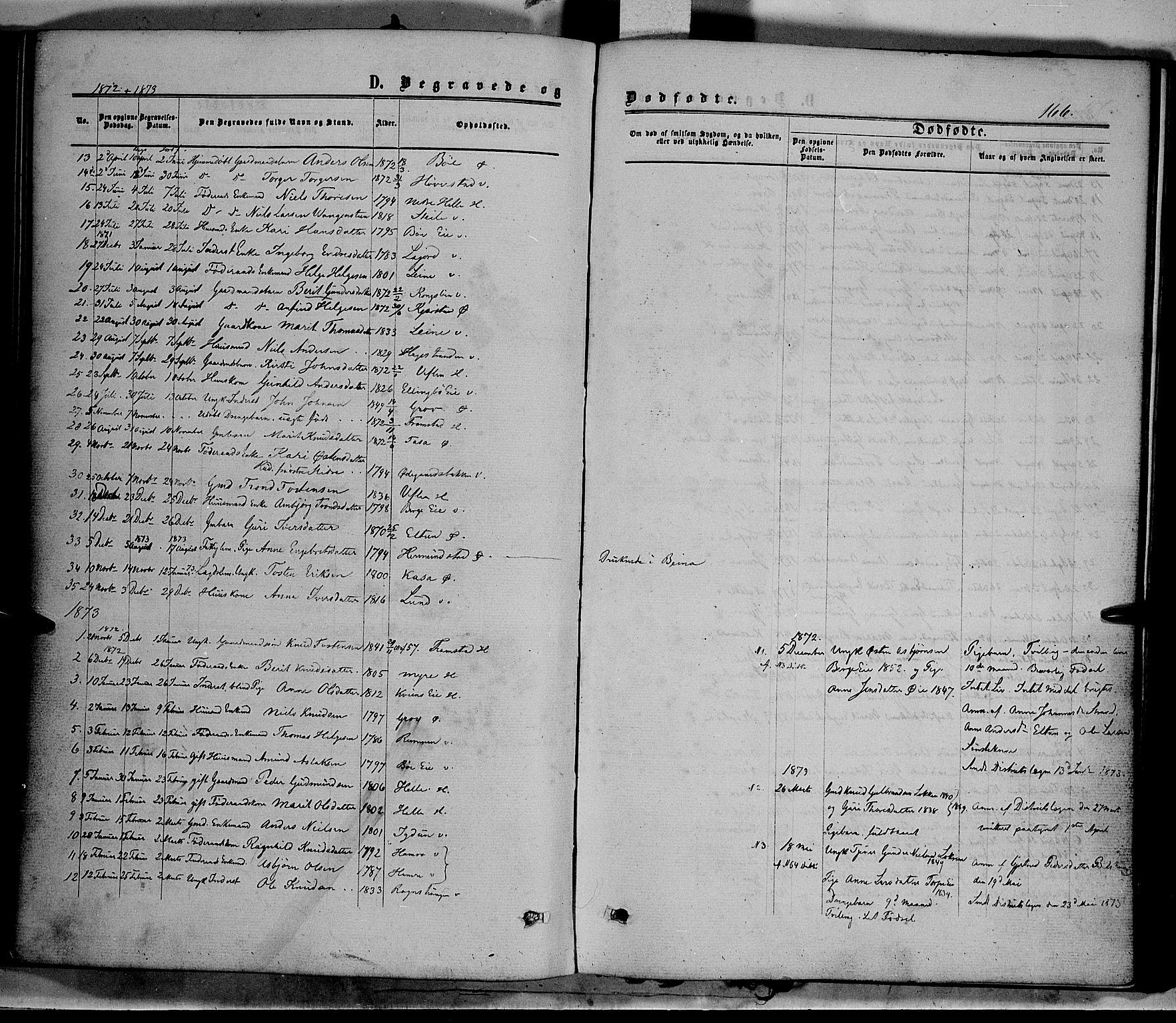 SAH, Vang prestekontor, Valdres, Ministerialbok nr. 7, 1865-1881, s. 166
