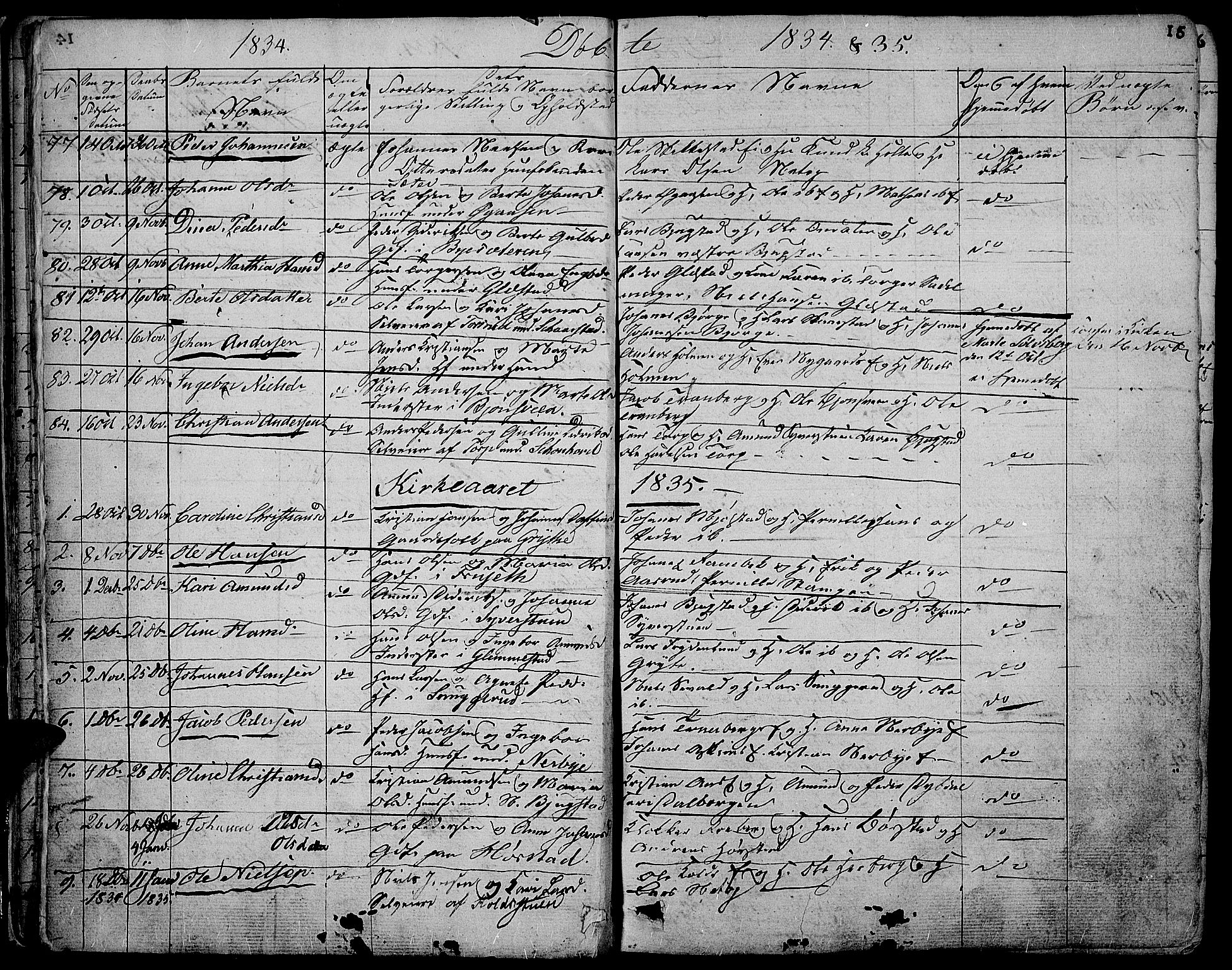 SAH, Vardal prestekontor, H/Ha/Hab/L0004: Klokkerbok nr. 4, 1831-1853, s. 15