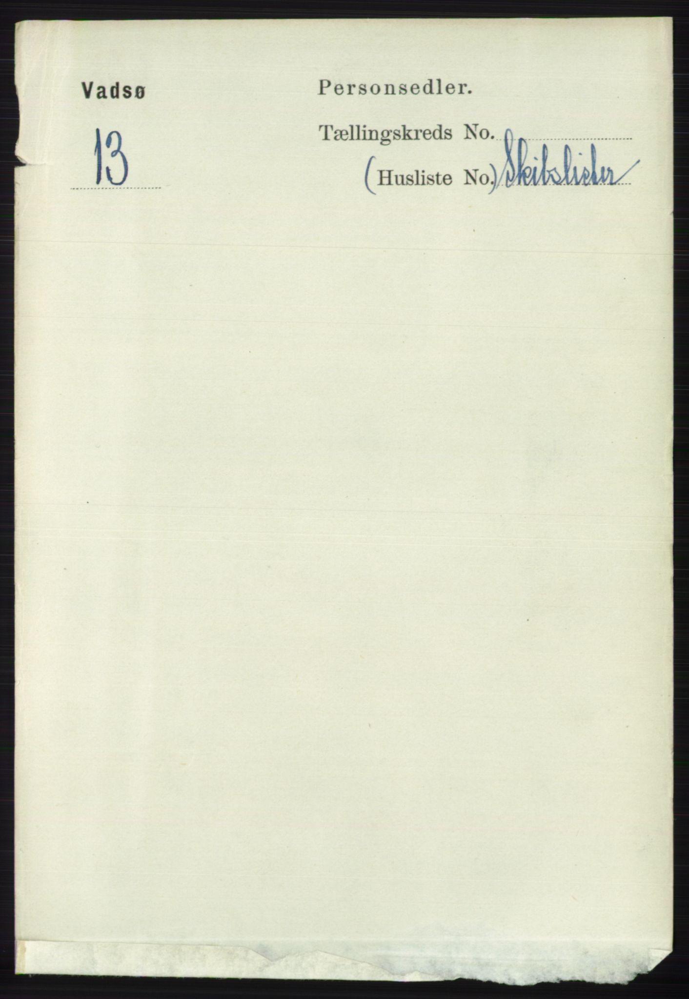 RA, Folketelling 1891 for 2003 Vadsø kjøpstad, 1891, s. 2347
