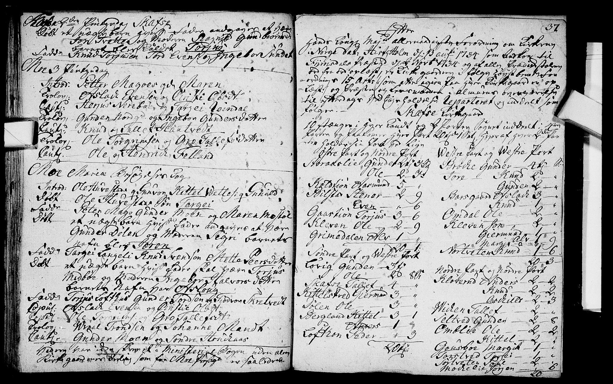 SAKO, Mo kirkebøker, F/Fa/L0001: Ministerialbok nr. I 1, 1724-1748, s. 37