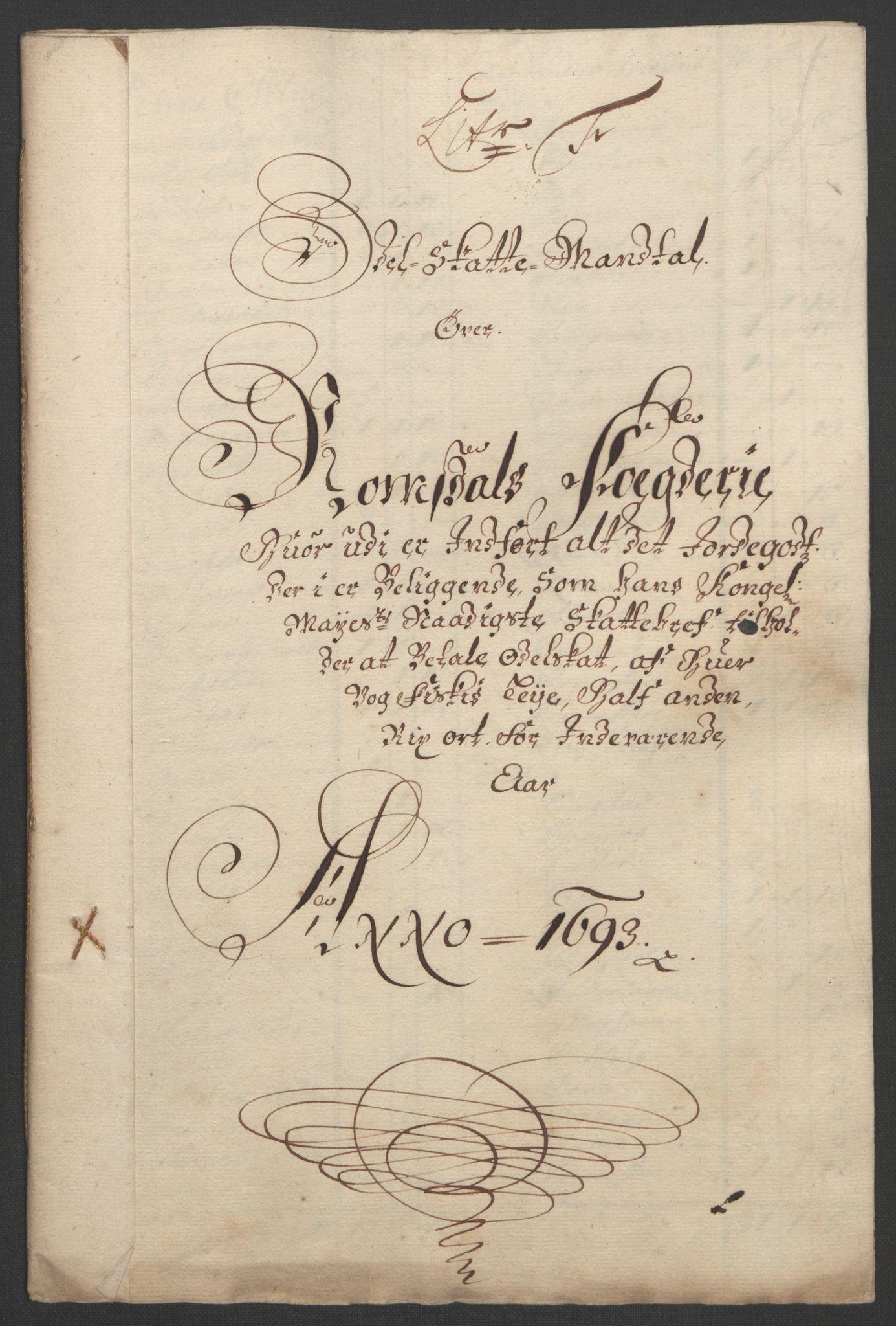 RA, Rentekammeret inntil 1814, Reviderte regnskaper, Fogderegnskap, R55/L3651: Fogderegnskap Romsdal, 1693-1694, s. 75