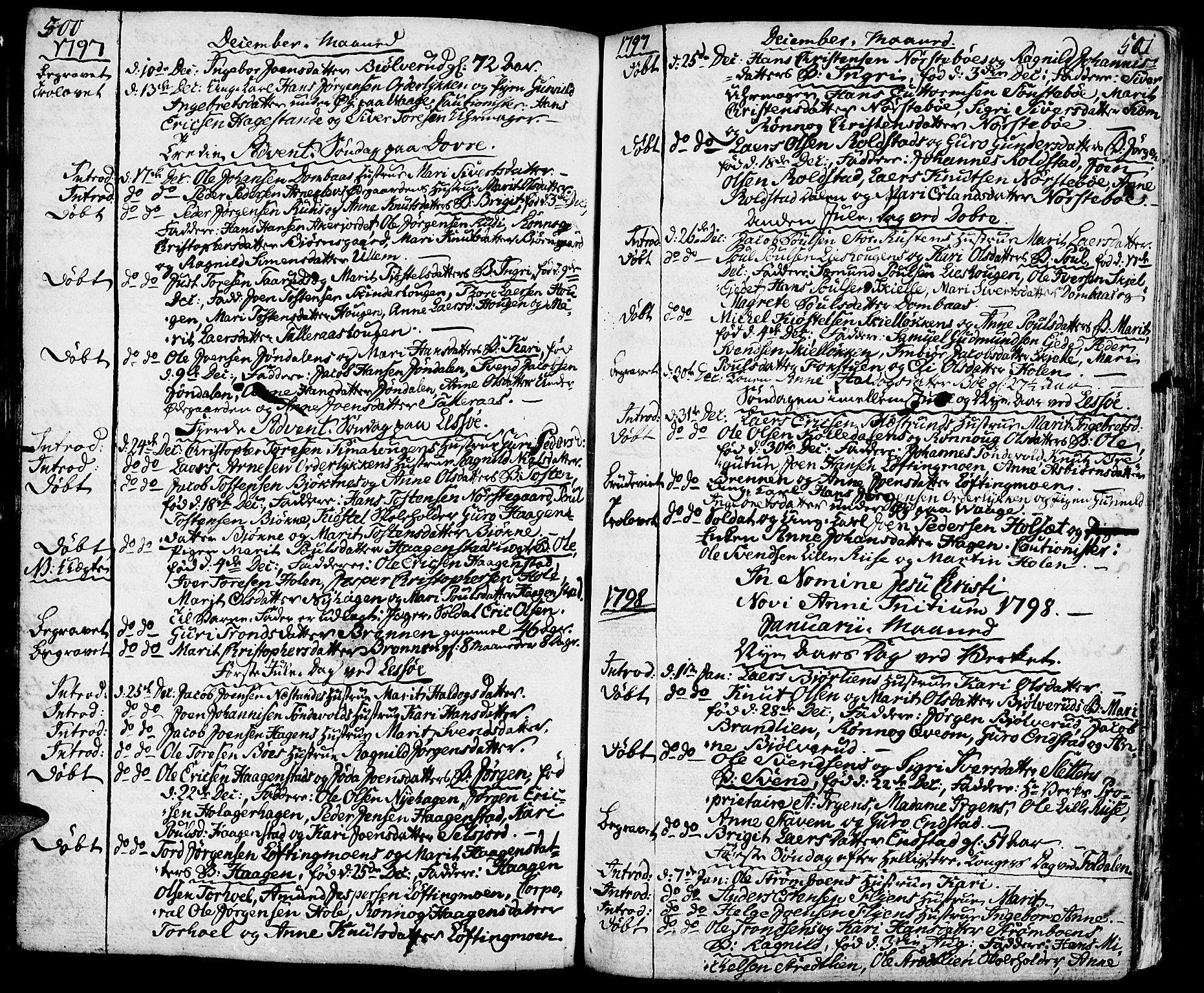 SAH, Lesja prestekontor, Ministerialbok nr. 3, 1777-1819, s. 500-501