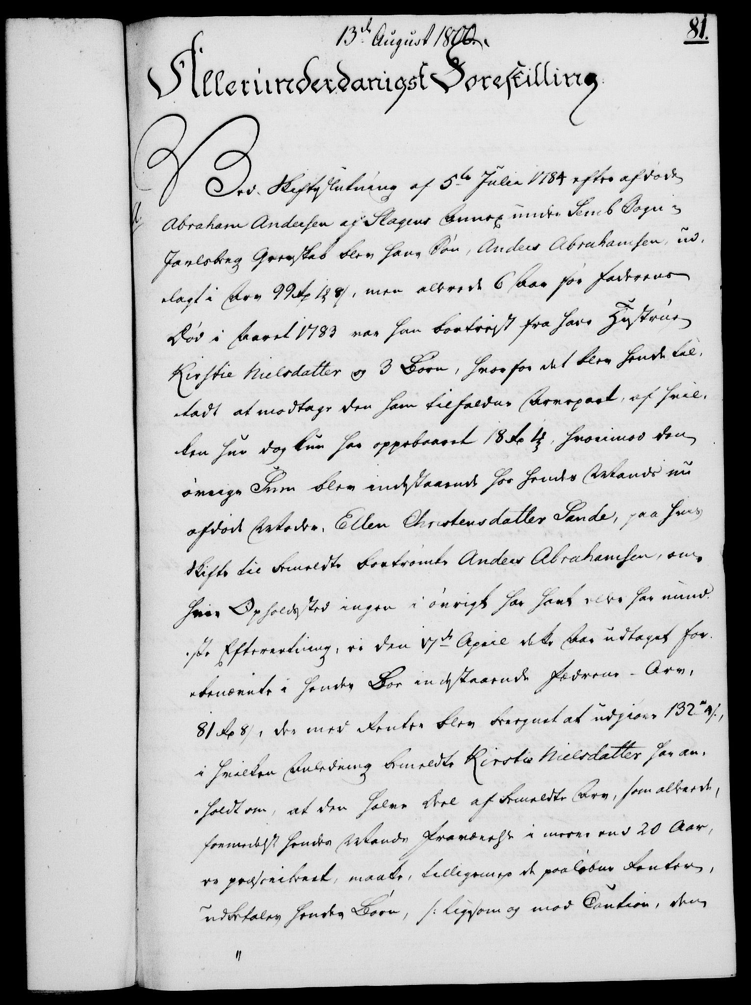 RA, Rentekammeret, Kammerkanselliet, G/Gf/Gfa/L0082: Norsk relasjons- og resolusjonsprotokoll (merket RK 52.82), 1800, s. 488